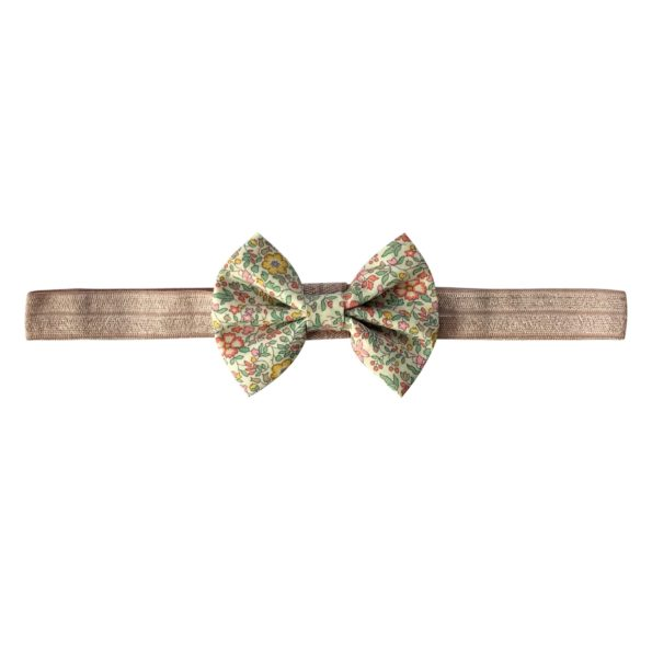 Small Bowtie Bow – elastic hairband – Liberty Katie & Millie B