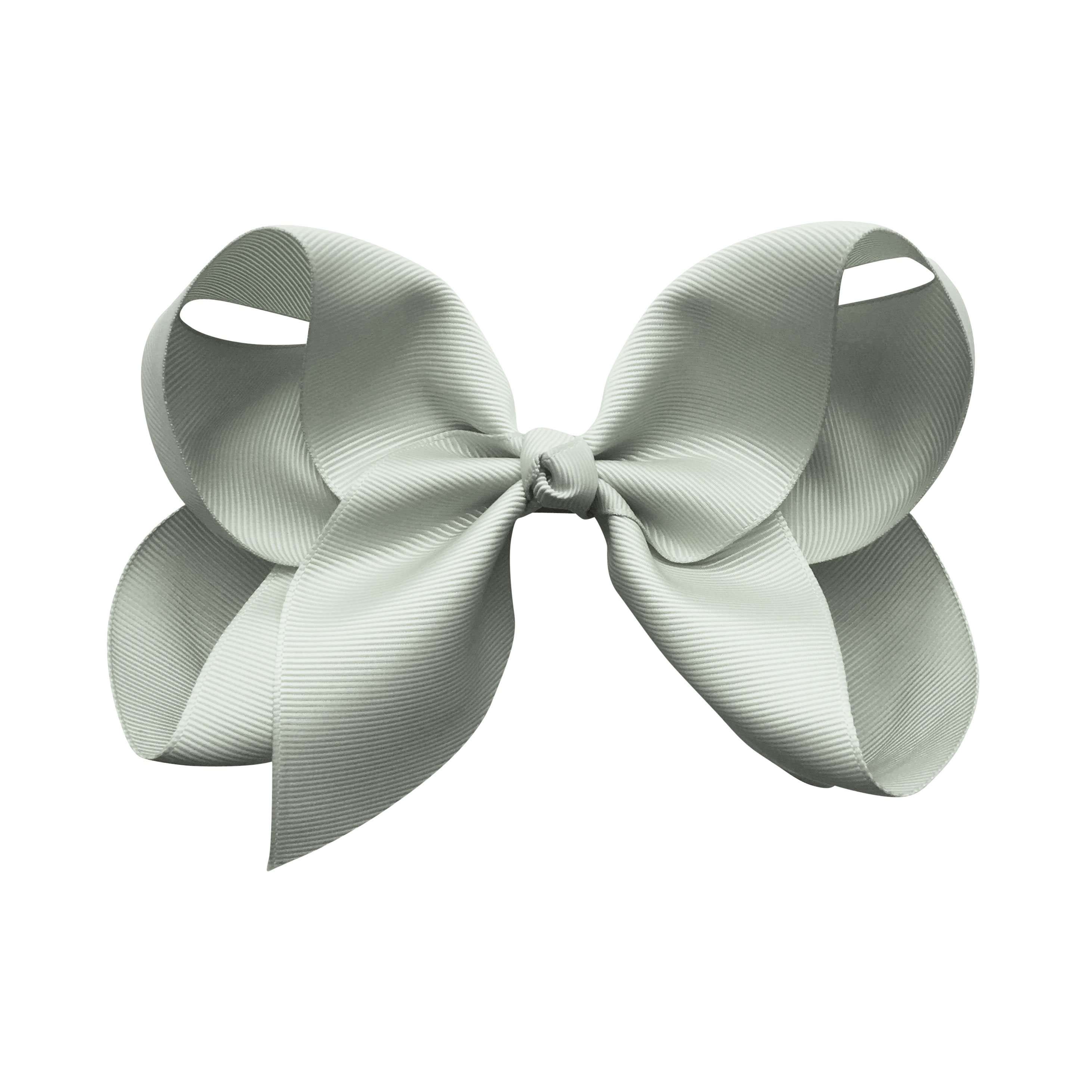 Image of Jumbo Boutique Bow - alligator clip - light silver