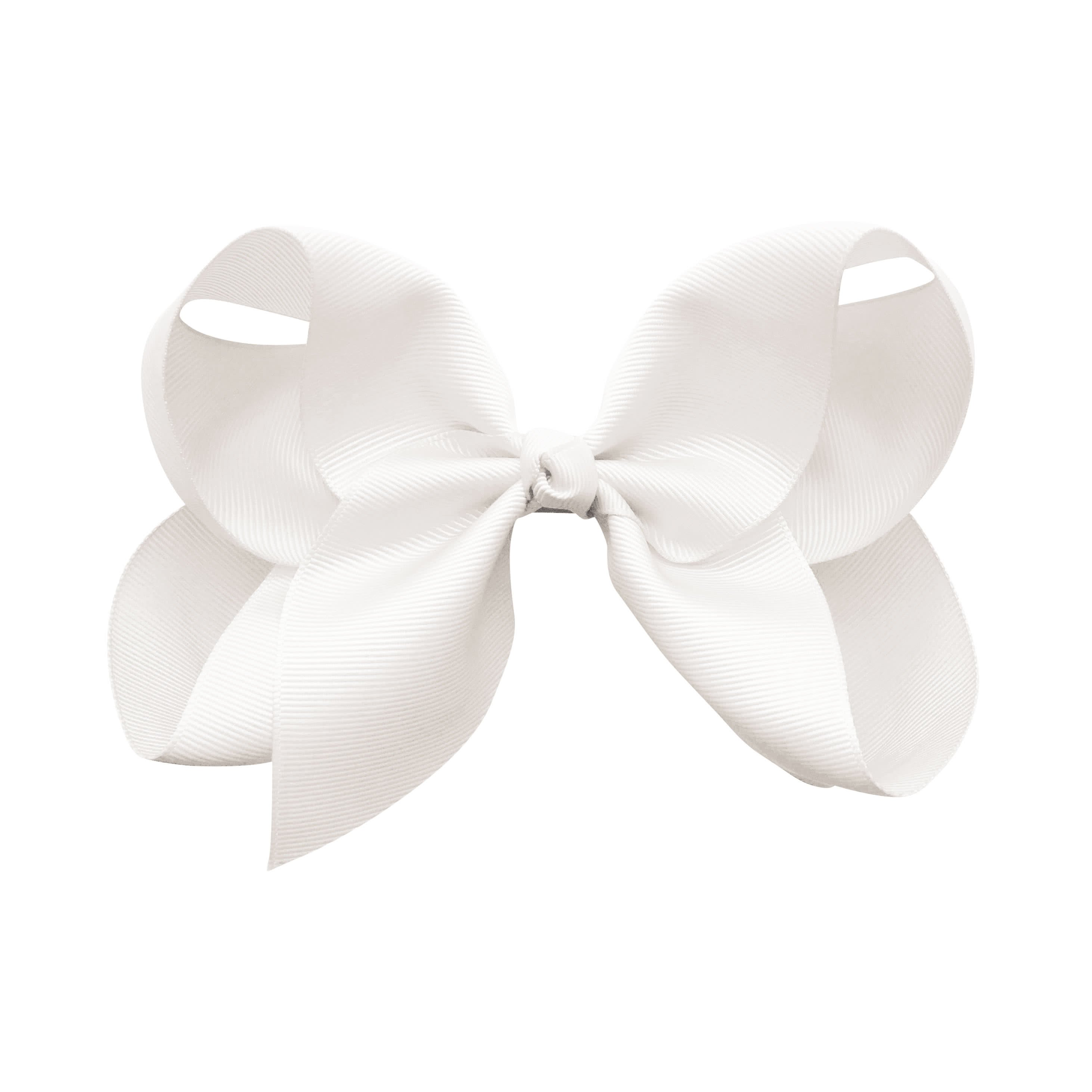 Image of Jumbo Boutique Bow - alligator clip - white