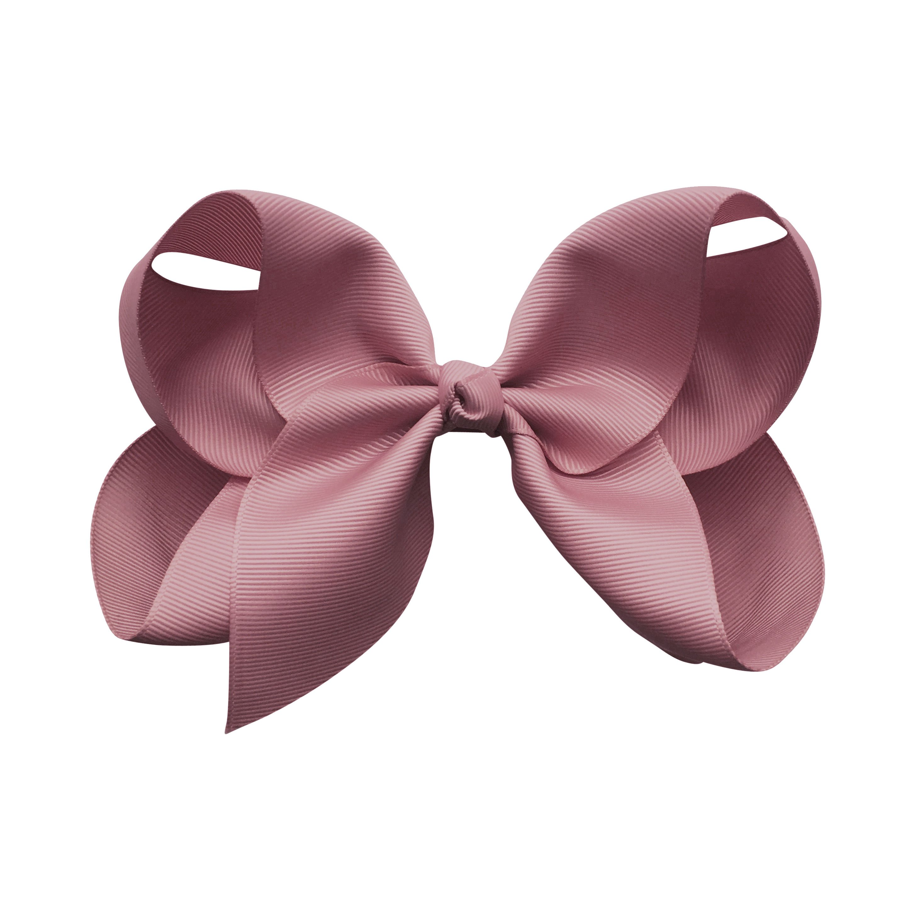 Image of Jumbo Boutique Bow - alligator clip - rosy mauve