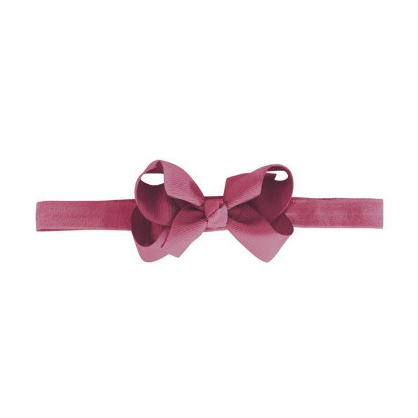 Medium boutique bow – elastic hairband – victorian rose