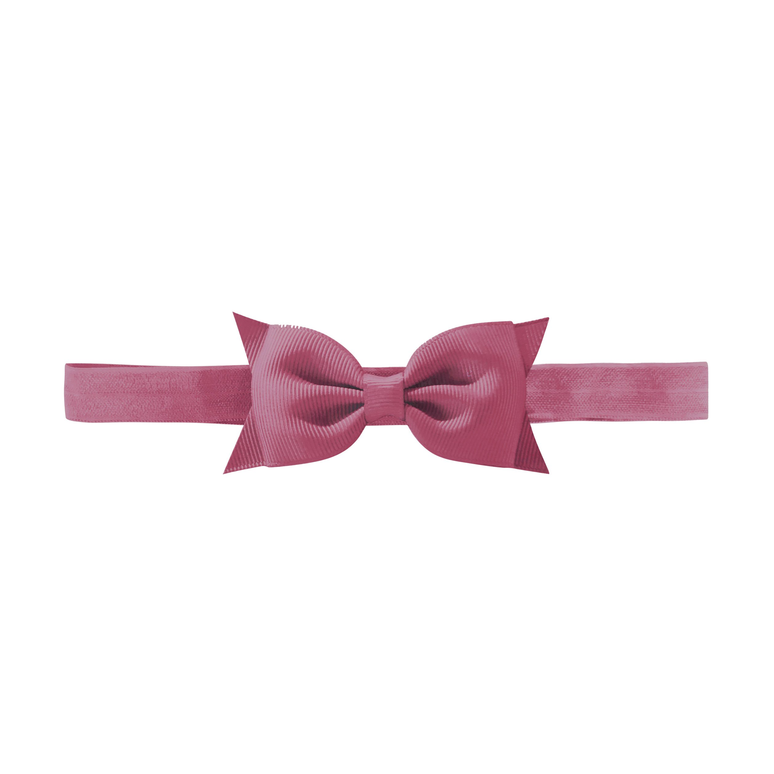 Image of Milledeux Double Bowtie bow - elastic hairband - victorian rose