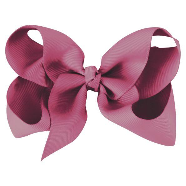Large boutique bow – alligator clip – victorian rose