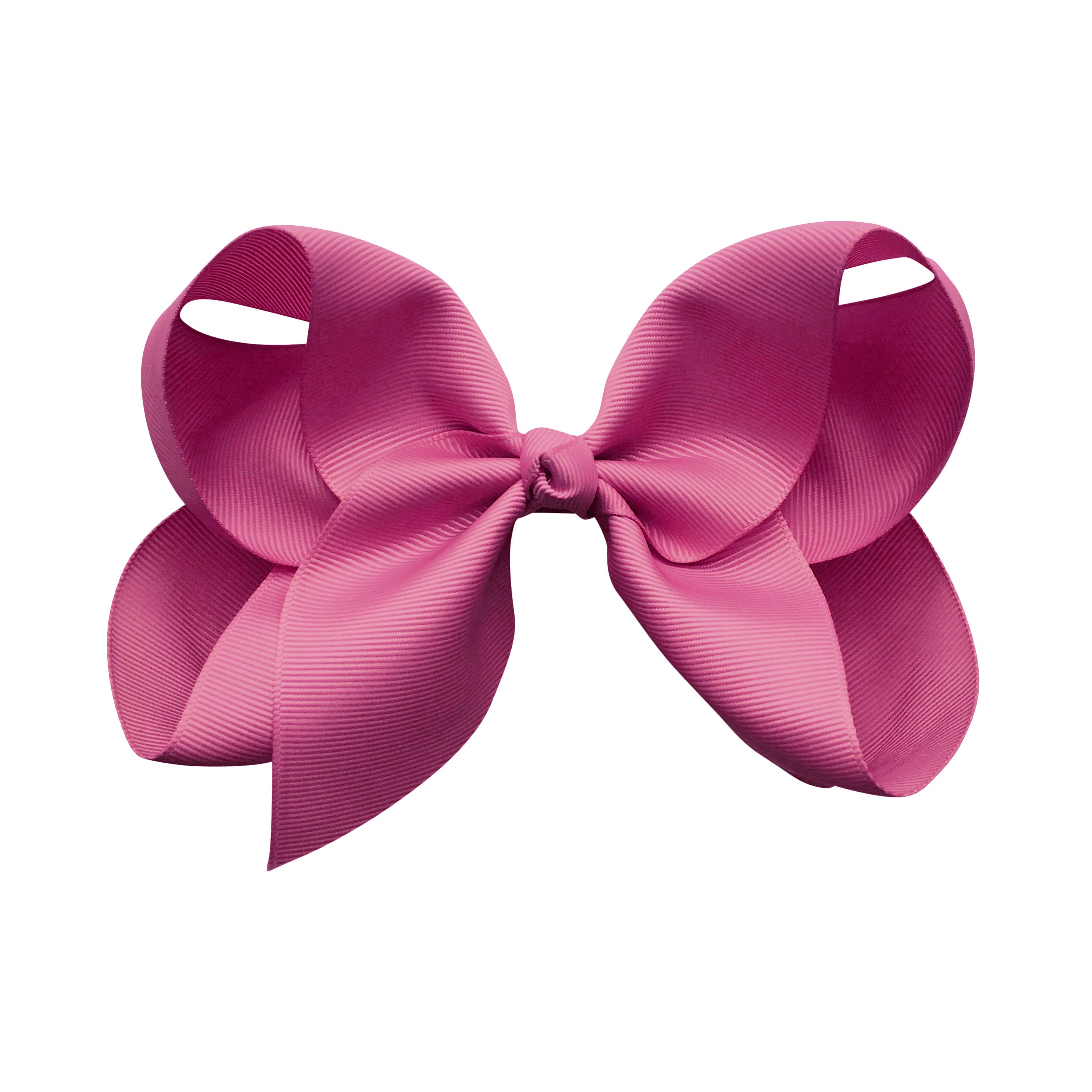 Image of Jumbo Boutique Bow - alligator clip - raspberry rose