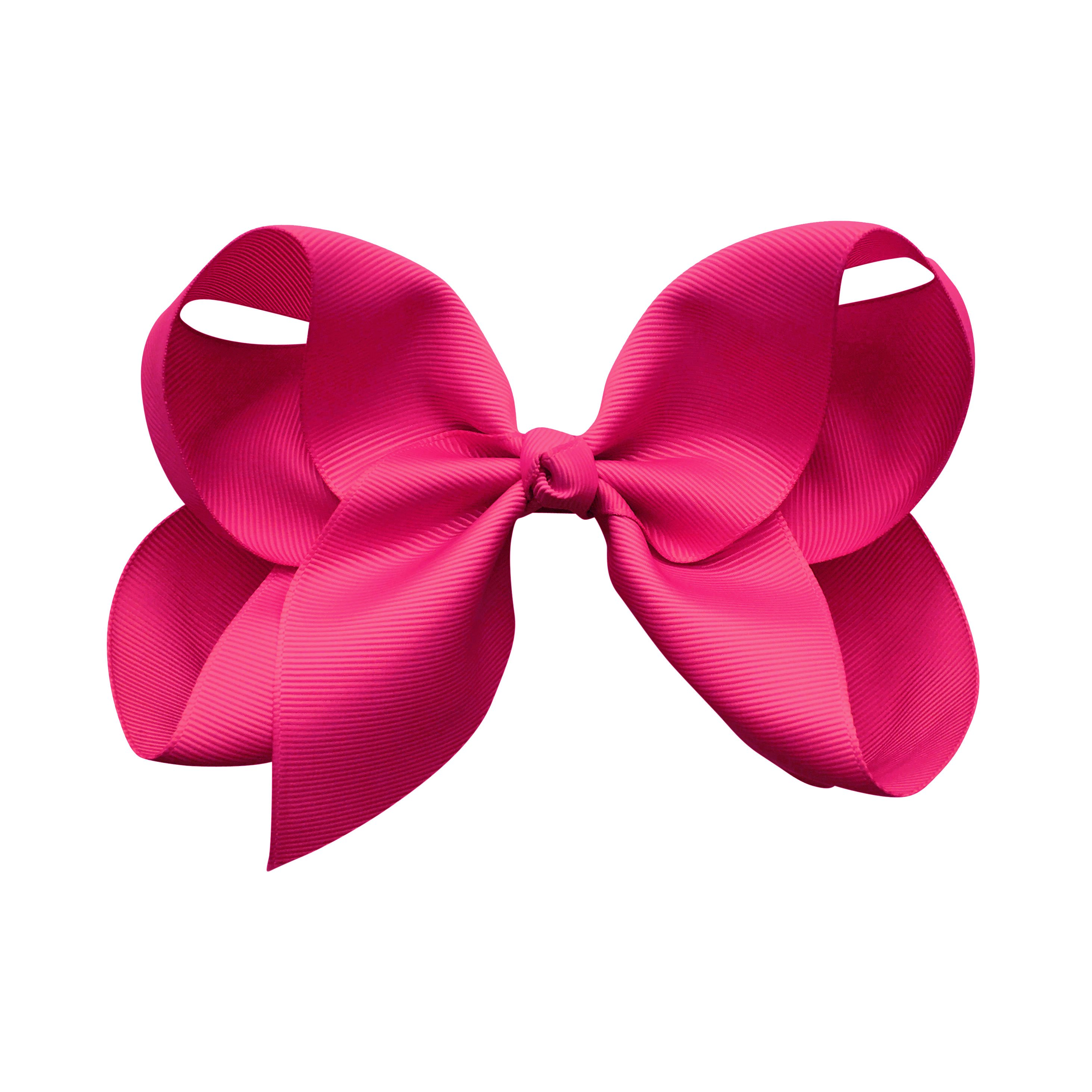 Image of Jumbo Boutique Bow - alligator clip - azalea