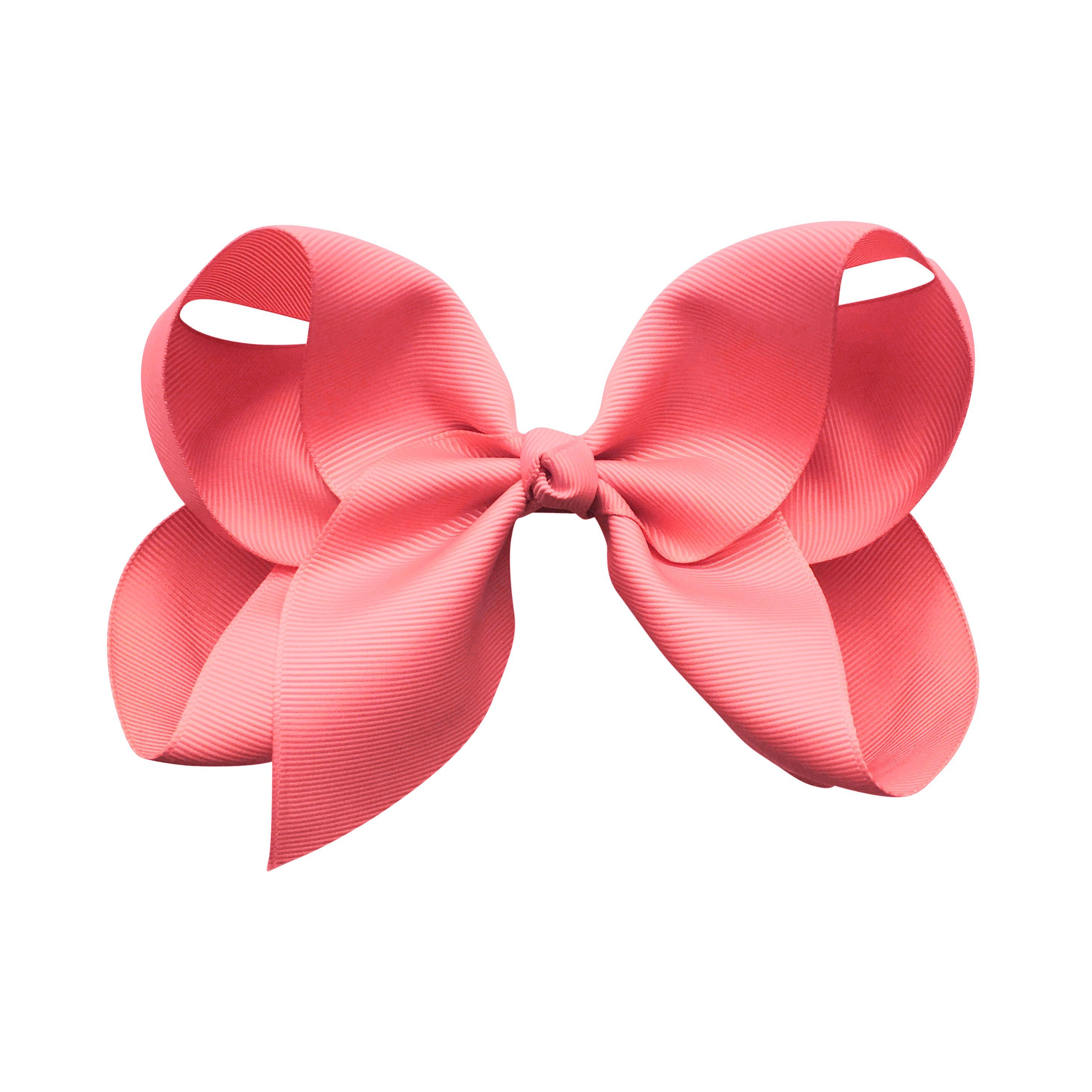 Image of Jumbo Boutique Bow - alligator clip - Coral Rose