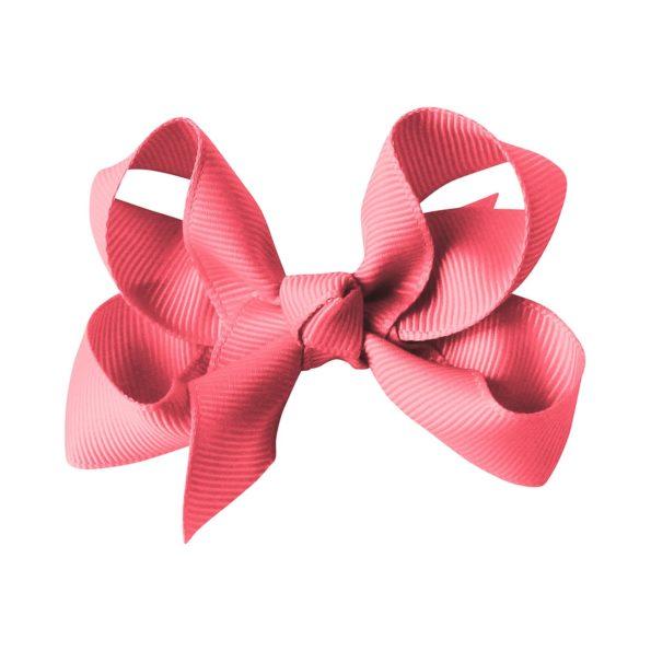 Medium boutique bow – alligator clip – coral rose