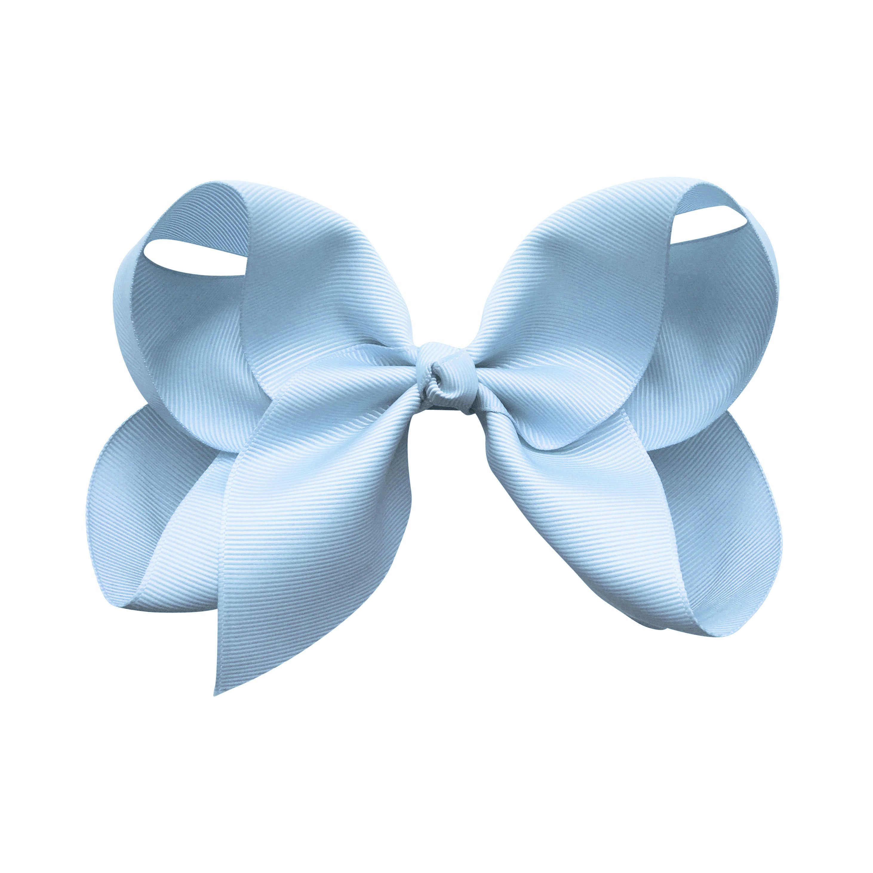 Image of Jumbo Boutique Bow - alligator clip - bluebell
