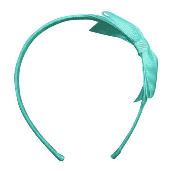 Large bowtie bow – hairband – aqua