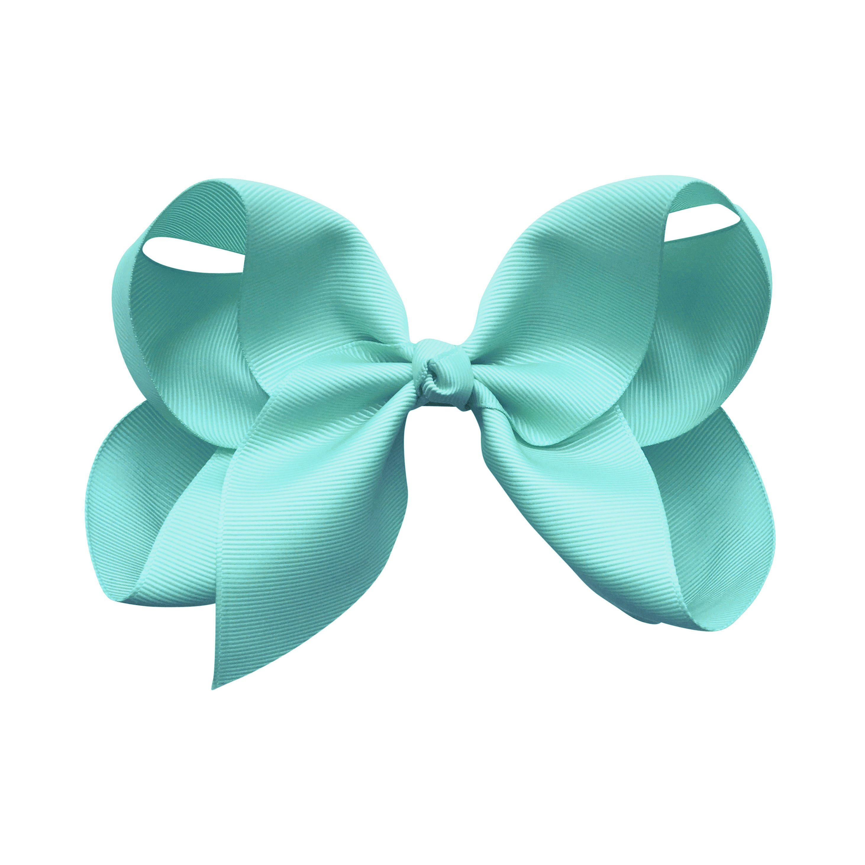 Image of Jumbo Boutique Bow - alligator clip - aqua