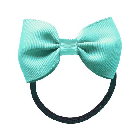Small bowtie bow – elastic band – aqua
