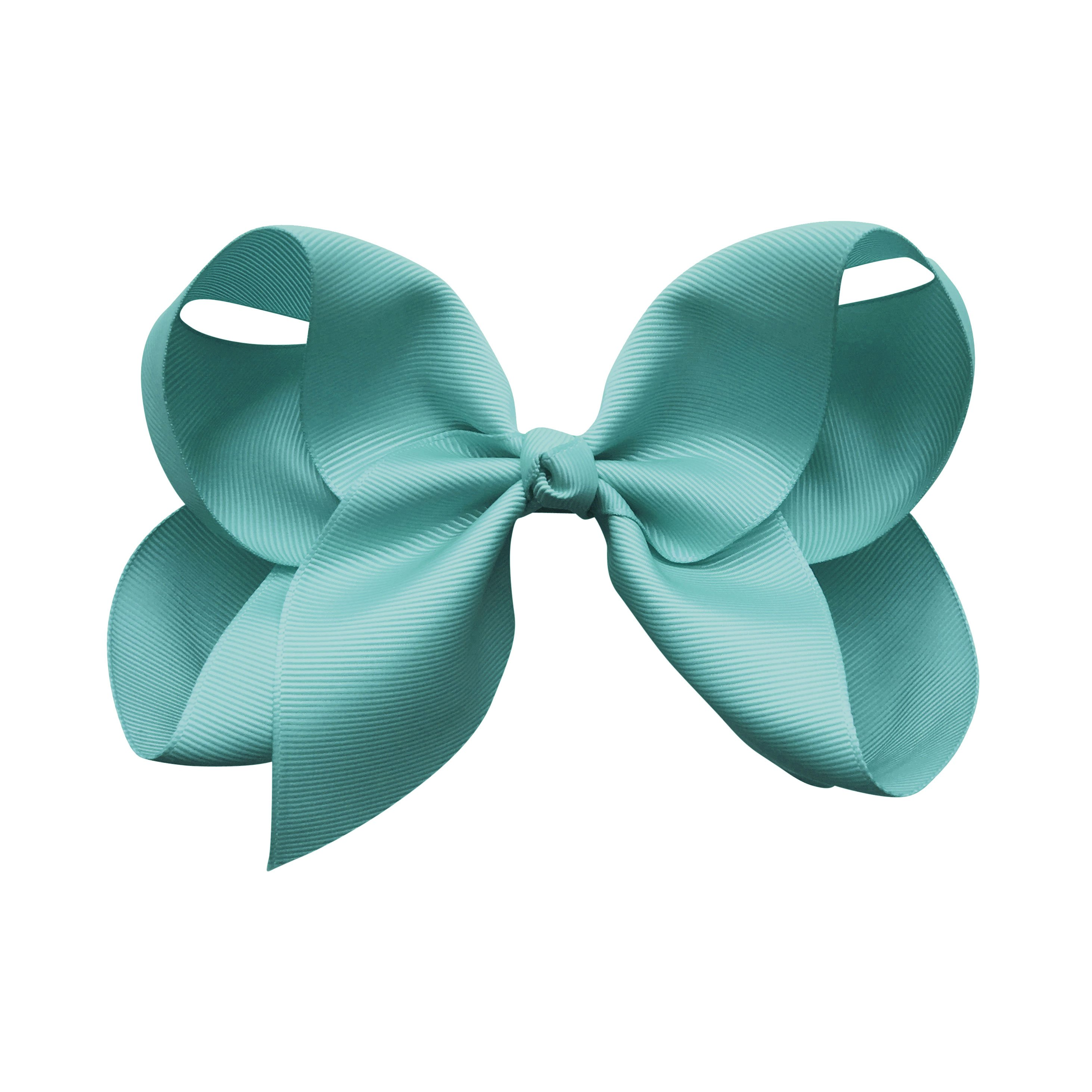 Image of Jumbo Boutique Bow - alligator clip - nile blue