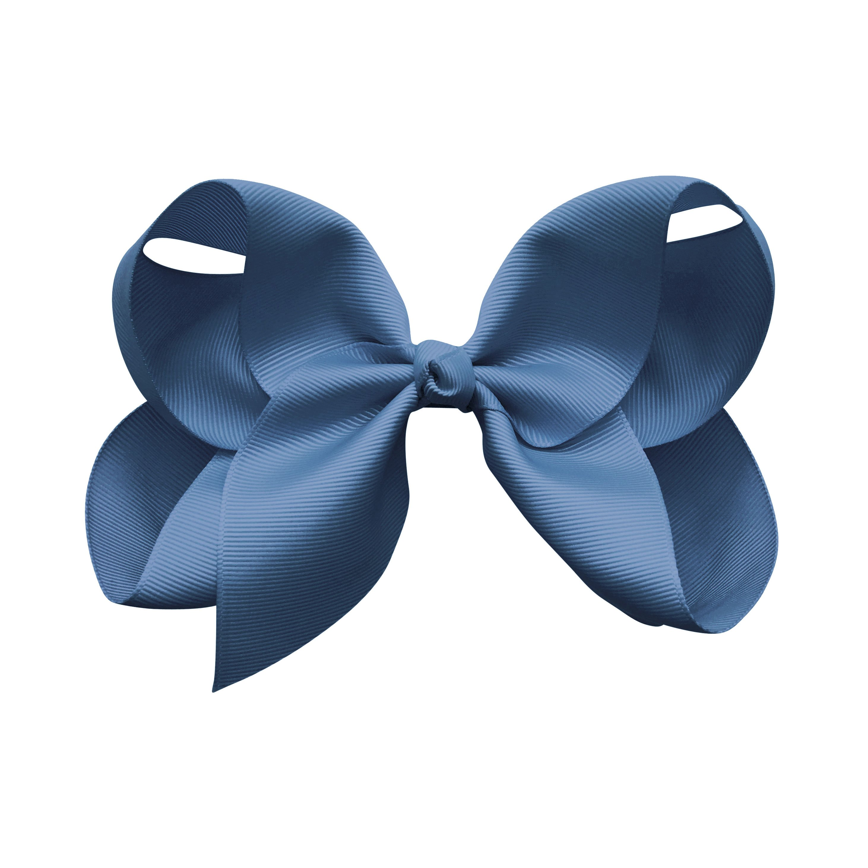 Image of Jumbo Boutique Bow - alligator clip - smoke blue