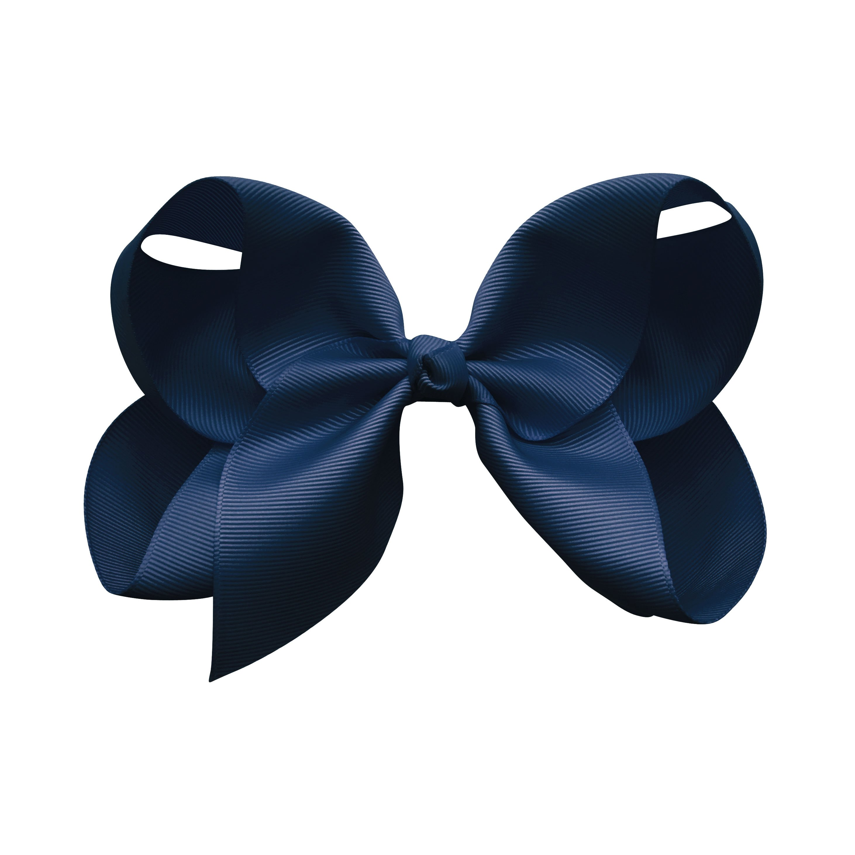 Image of Jumbo Boutique Bow - alligator clip - navy