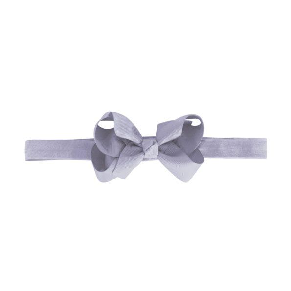 Medium boutique bow – elastic hairband – thistle