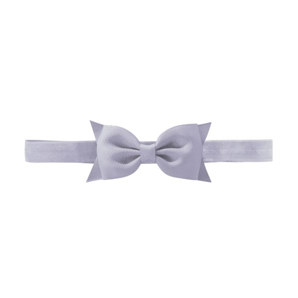 Milledeux Double Bowtie bow – elastic hairband – thistle