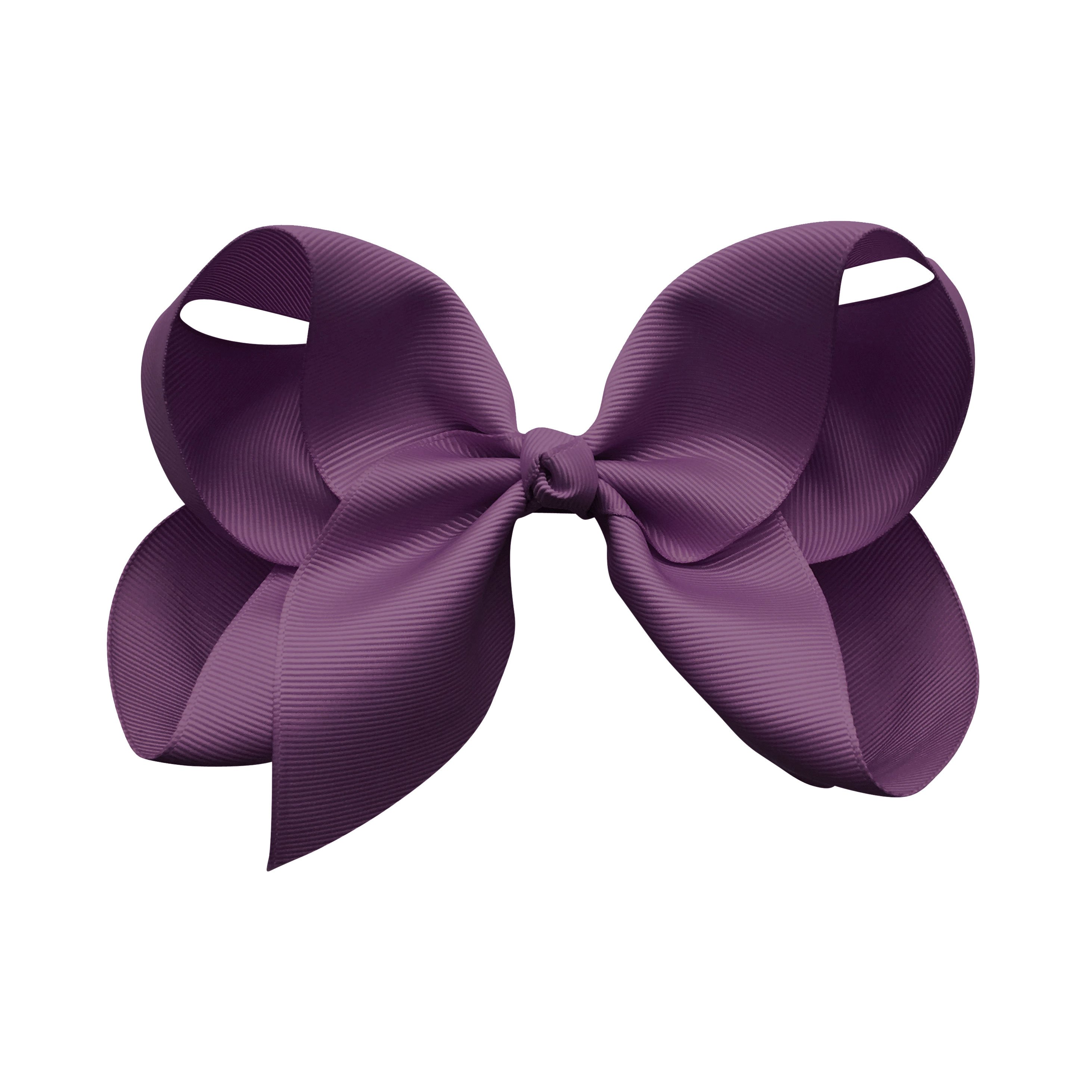 Image of Jumbo Boutique Bow - alligator clip - amethyst