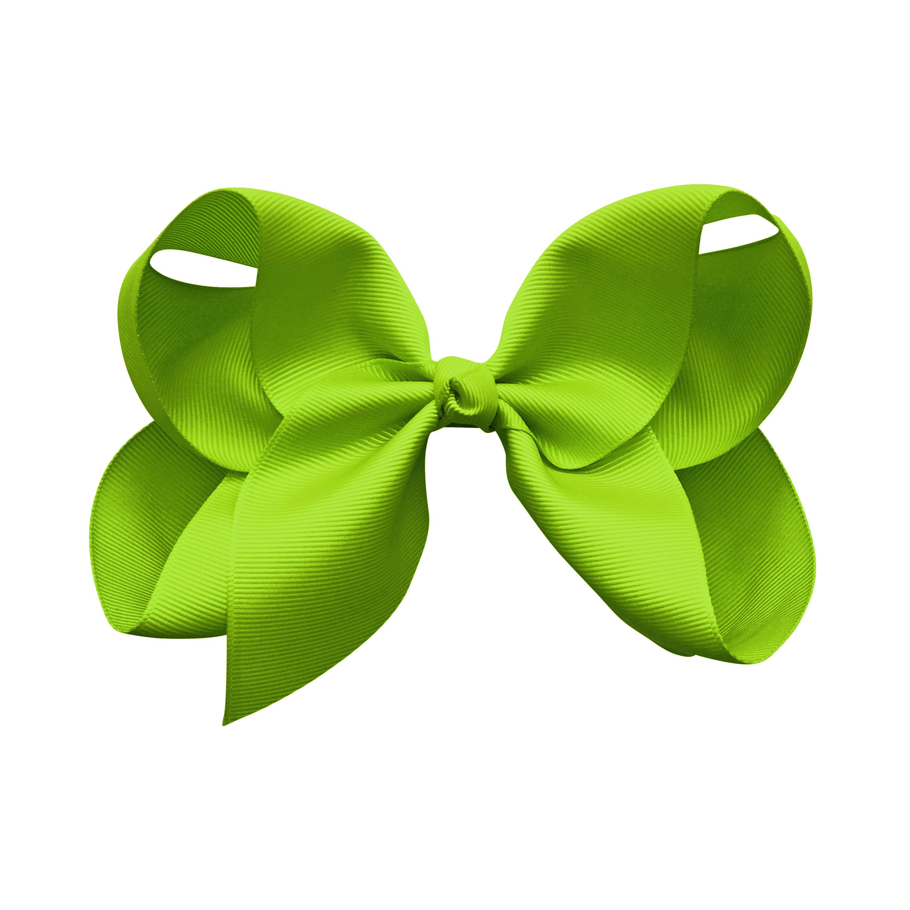 Image of Jumbo Boutique Bow - alligator clip - apple green