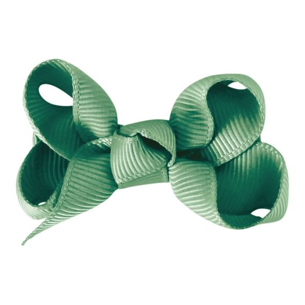 Small boutique bow – alligator clip – celadon