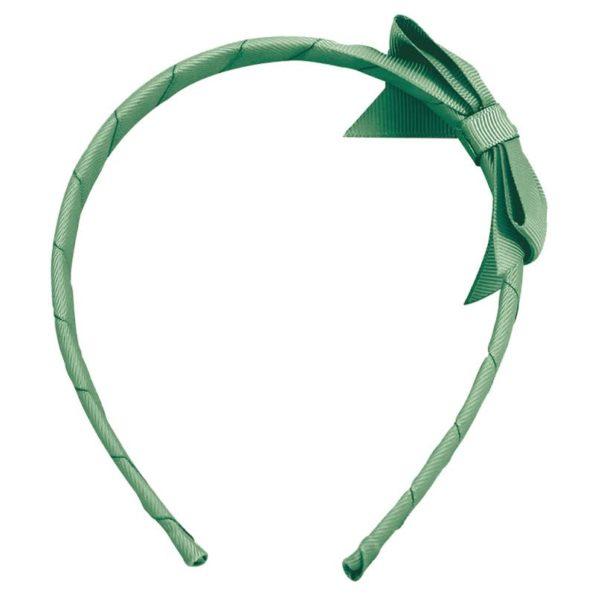 Medium bowtie bow – hairband – celadon