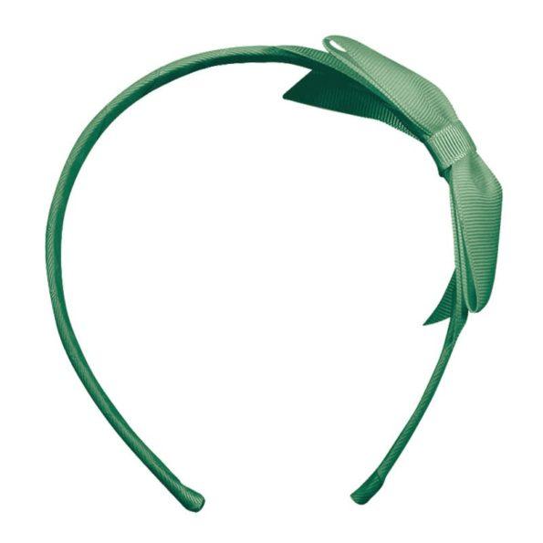 Large bowtie bow – hairband – celadon