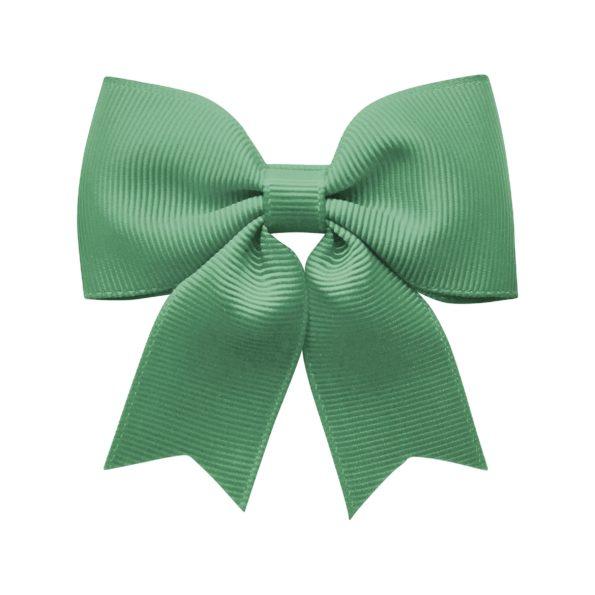 Medium bowtie bow w/ tails – alligator clip – celadon