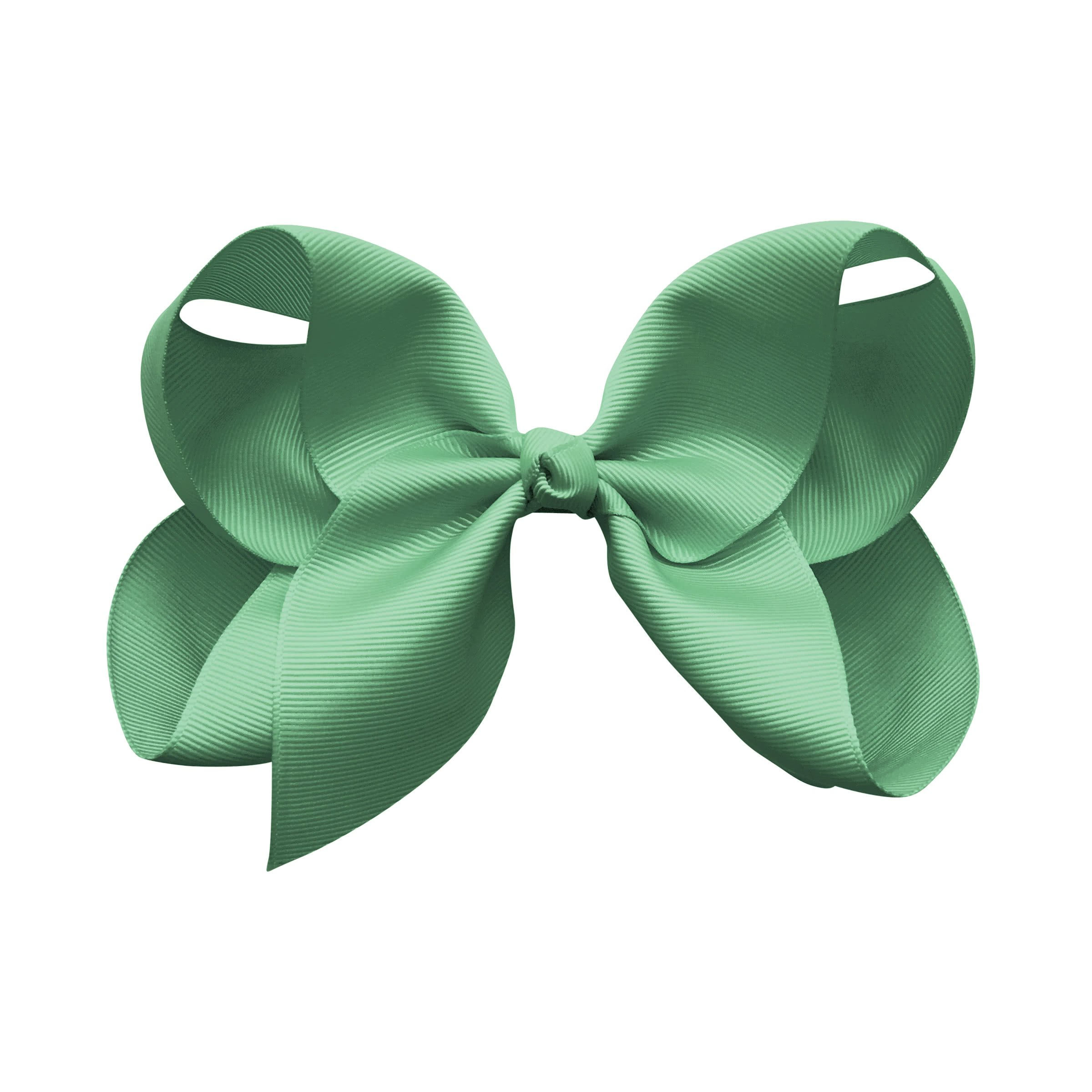 Image of Jumbo Boutique Bow - alligator clip - celadon