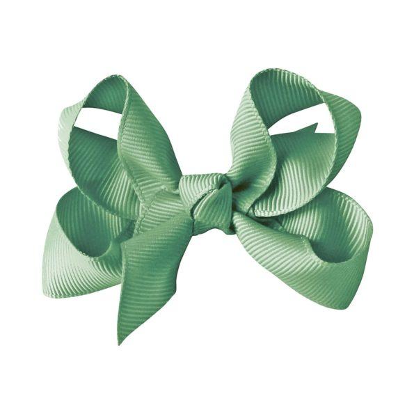 Medium boutique bow – alligator clip – celadon