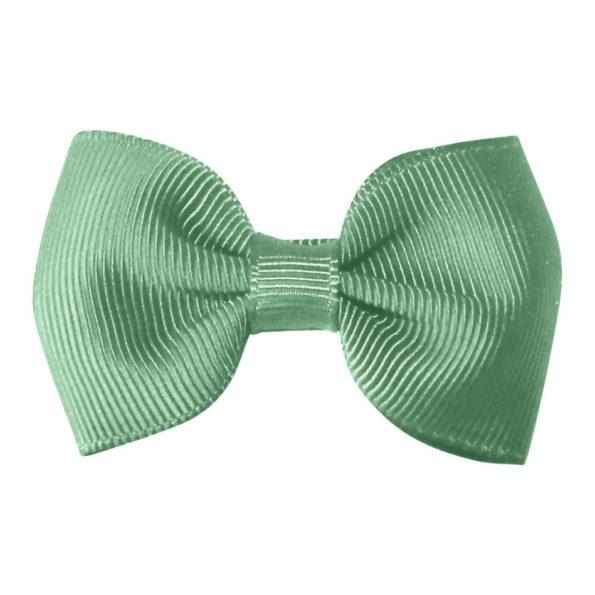 Small bowtie bow – alligator clip – celadon