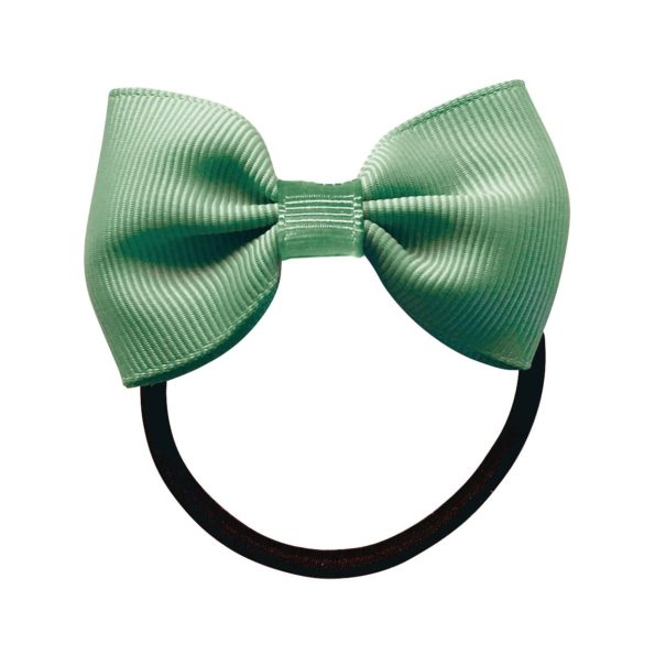 Small bowtie bow – elastic band – celadon