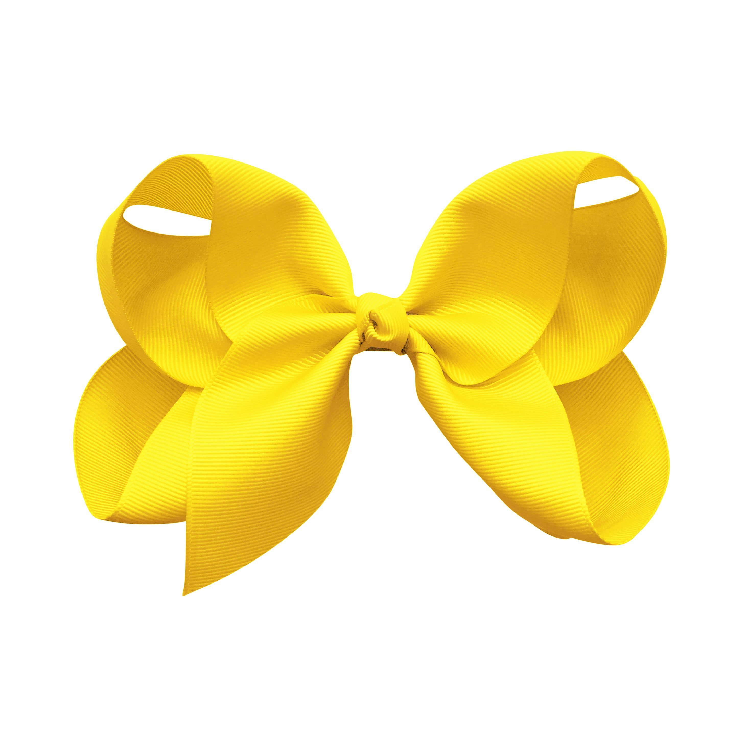 Image of Jumbo Boutique Bow - alligator clip - daffodil