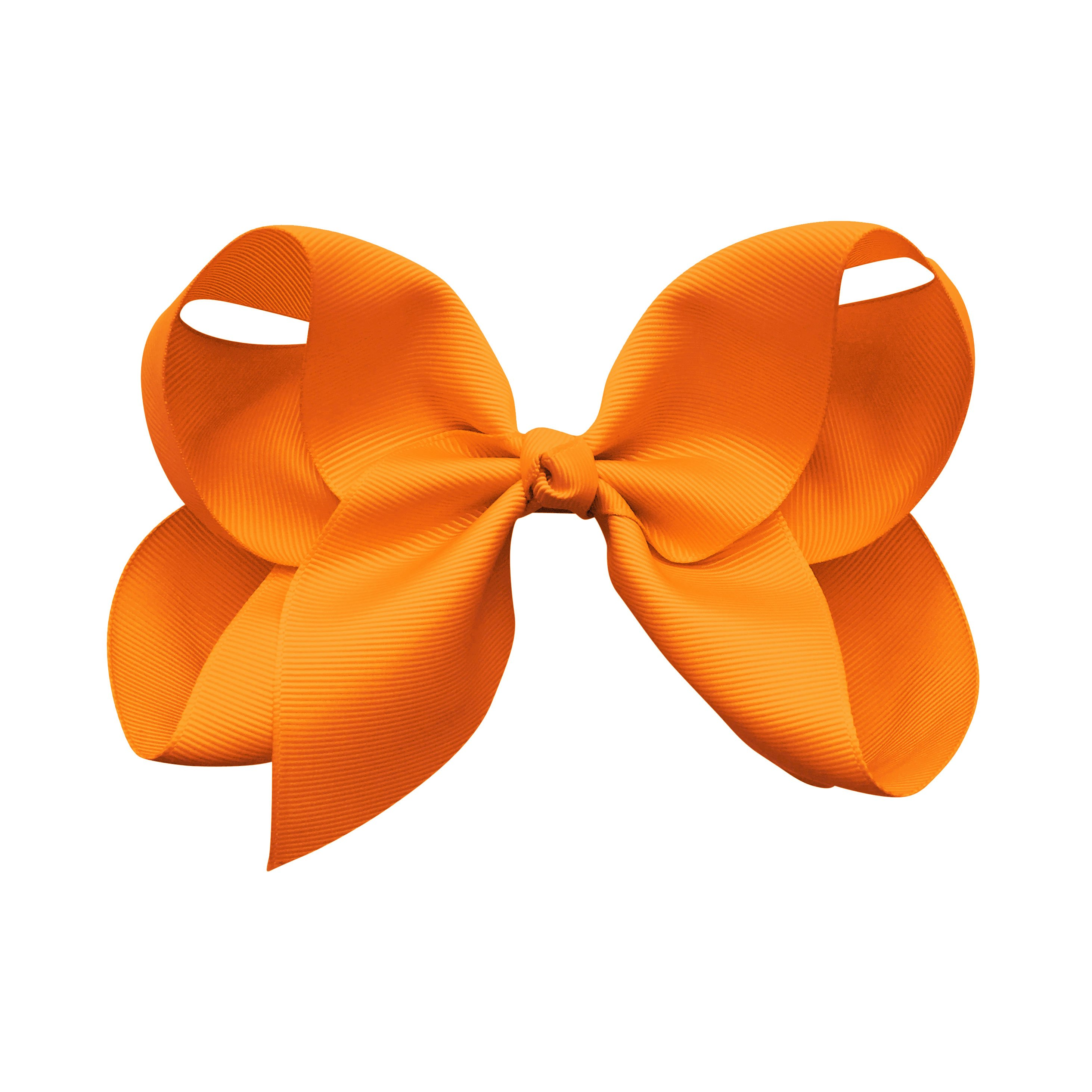 Image of Jumbo Boutique Bow - alligator clip - tangerine