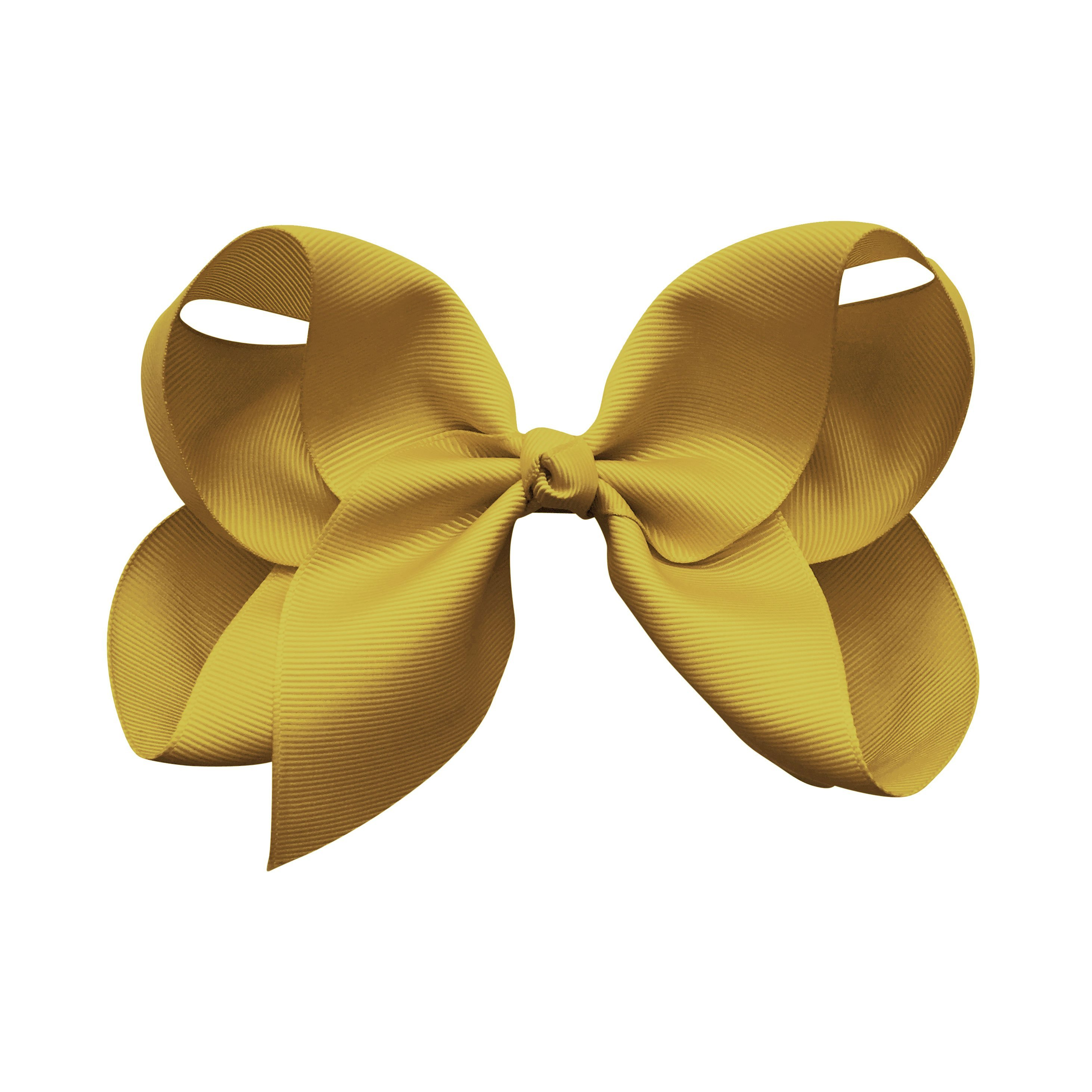 Image of Jumbo Boutique Bow - alligator clip - dijon
