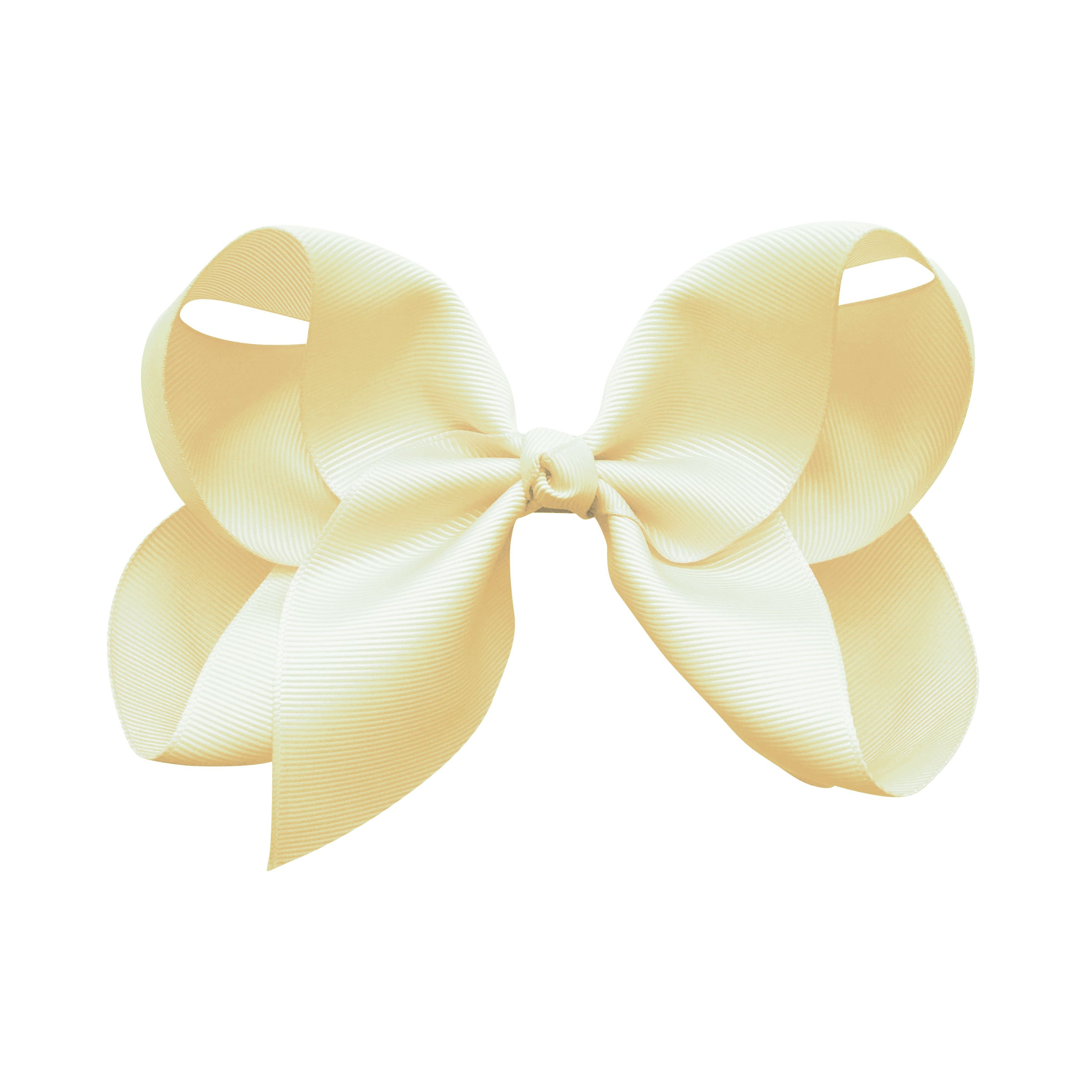 Image of Jumbo Boutique Bow - alligator clip - ivory