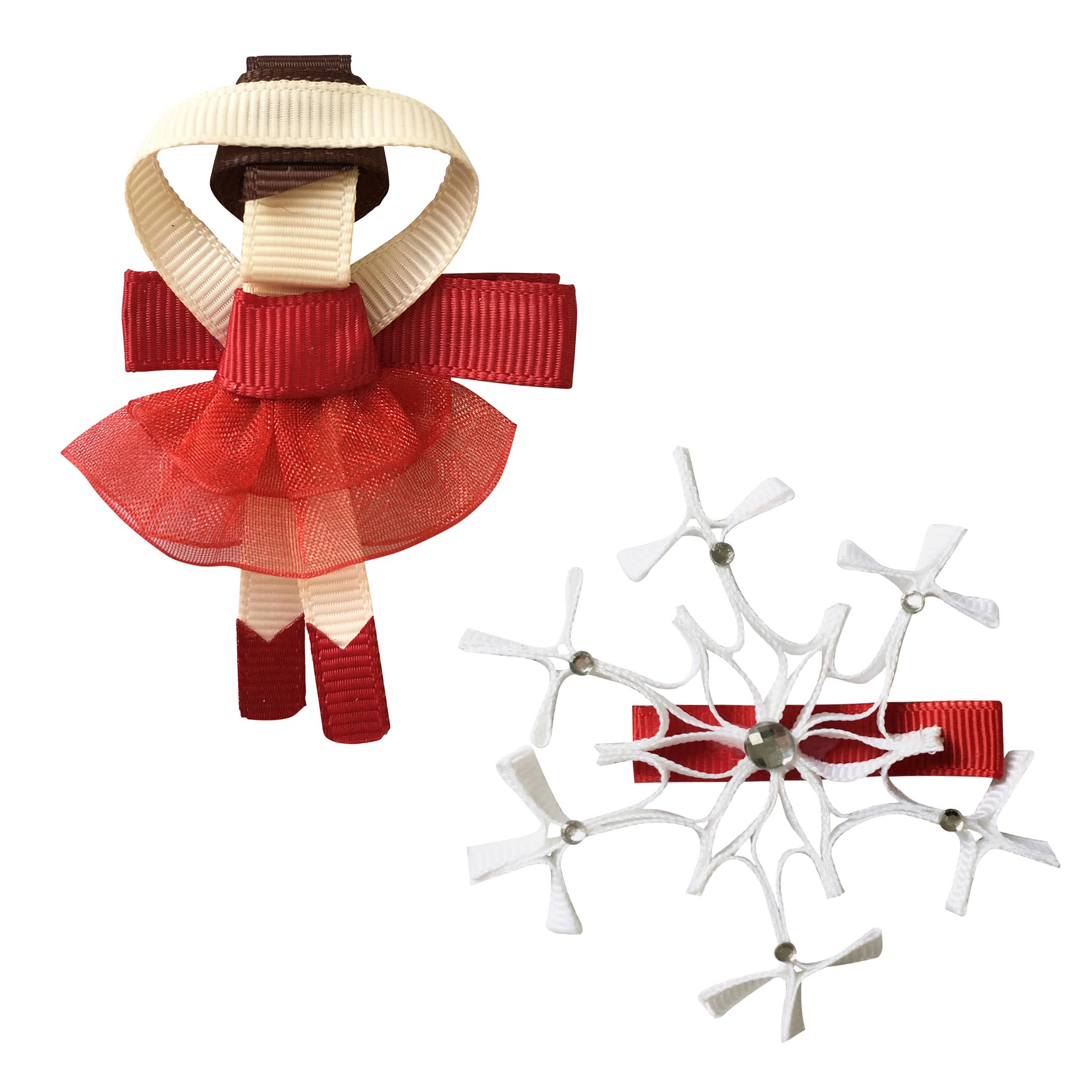 Image of Milledeux® Fairytale Christmas gift set - Ballerina and Snowflake - scarlet
