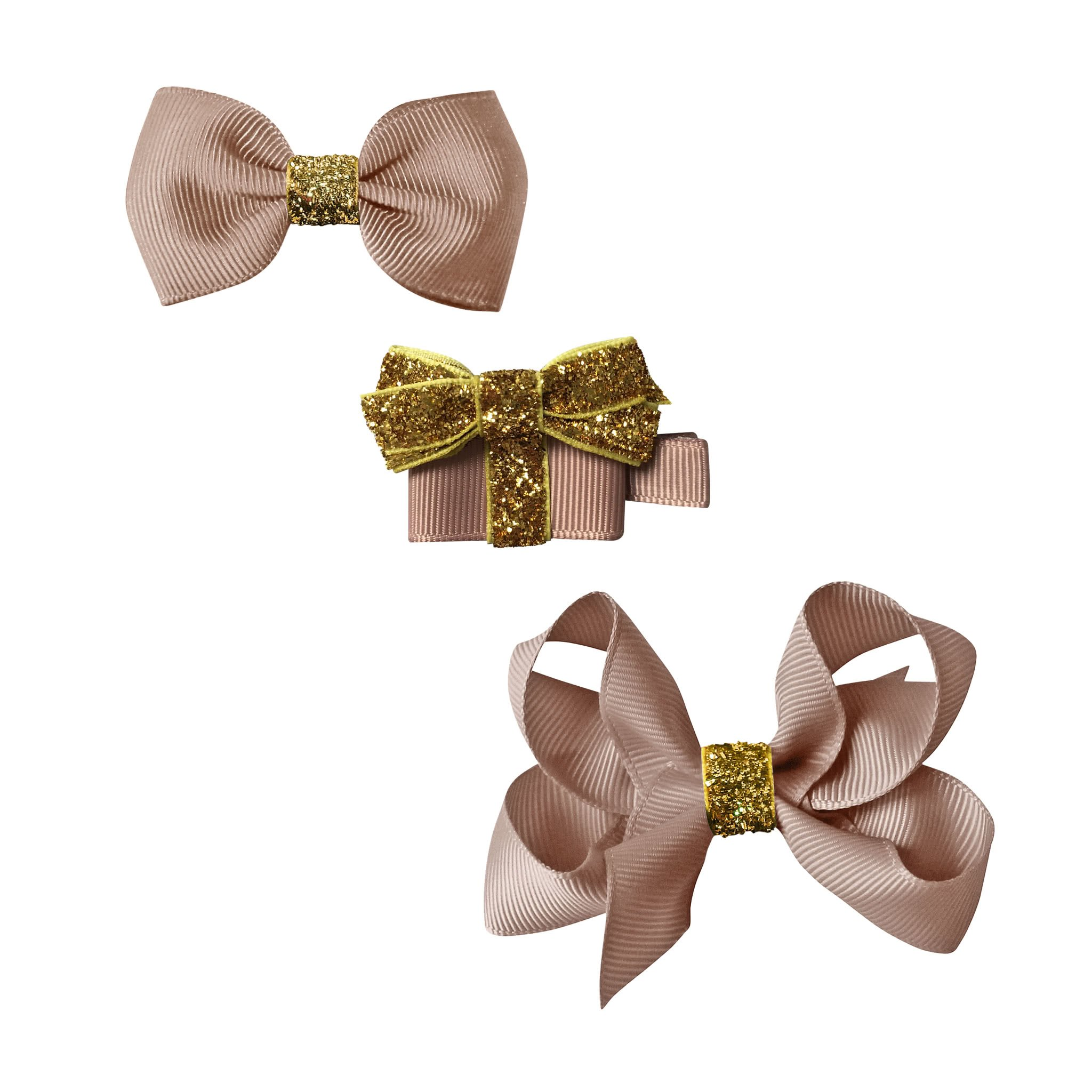 Image of Milledeux® Classic Christmas gift set - a Gift and 2 bows - ginger snap / gold