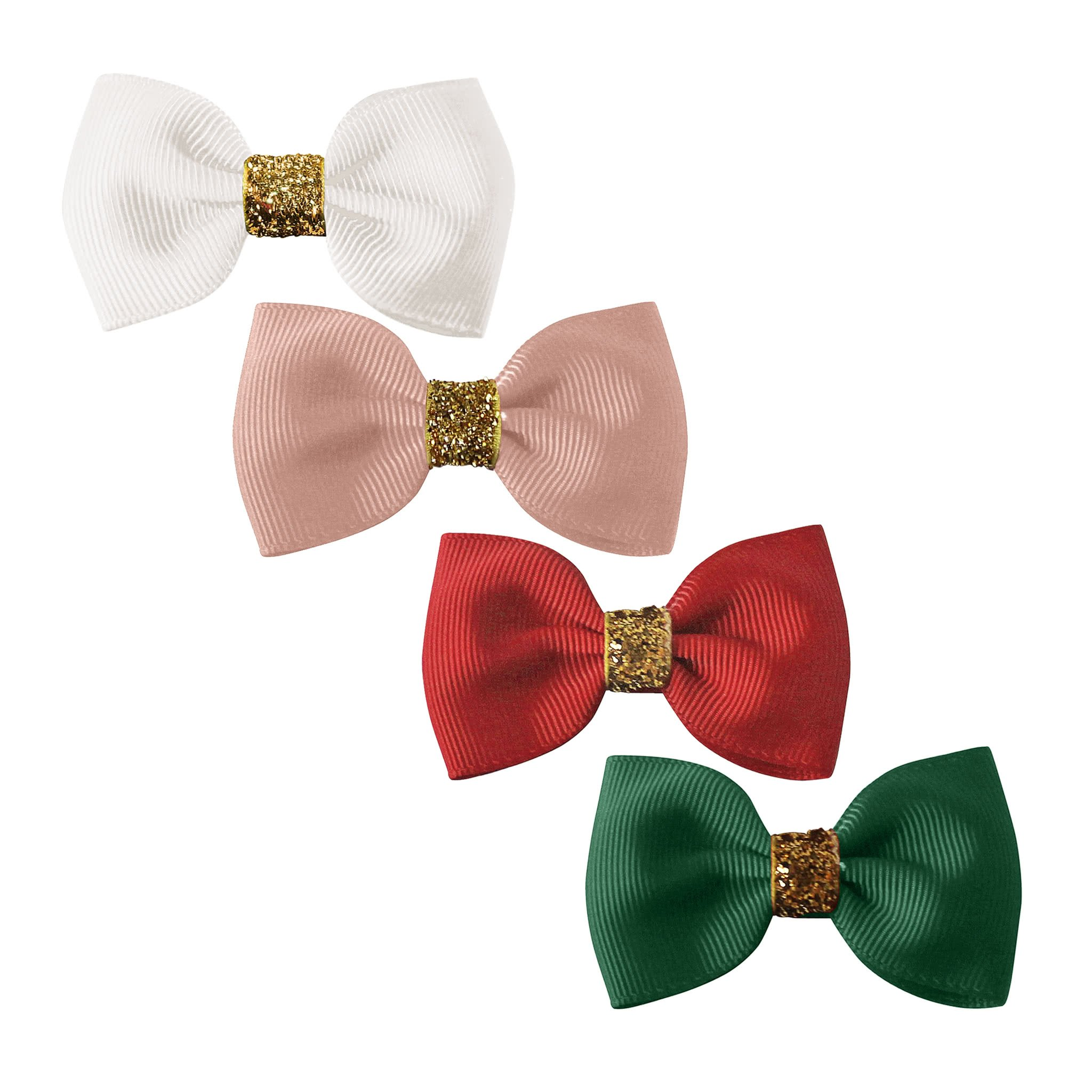 Image of Milledeux® Classic Christmas gift set - 4 small bowtie bows