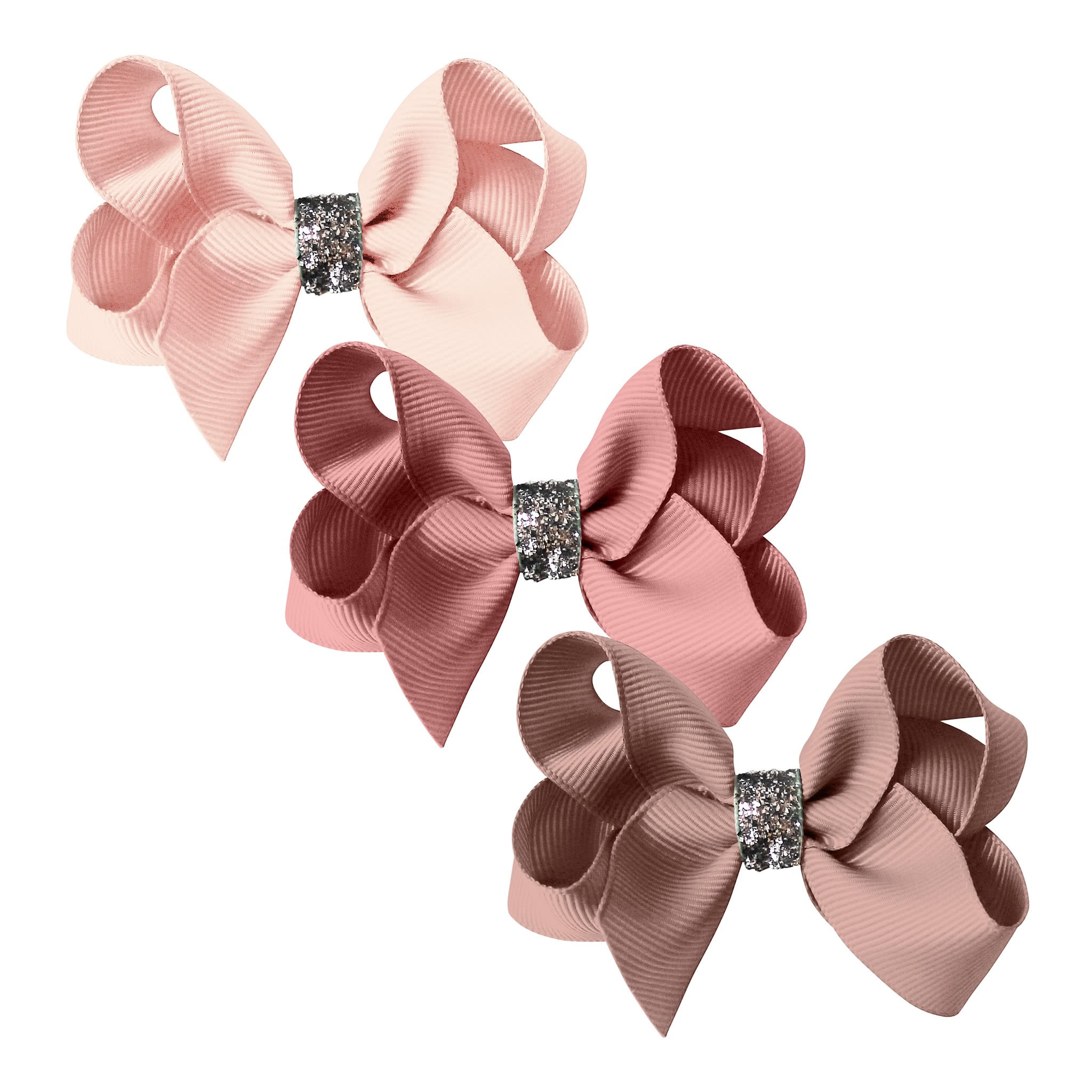 Image of Milledeux® gift set - Glitter Collection - 3 Medium boutique bows - pinks