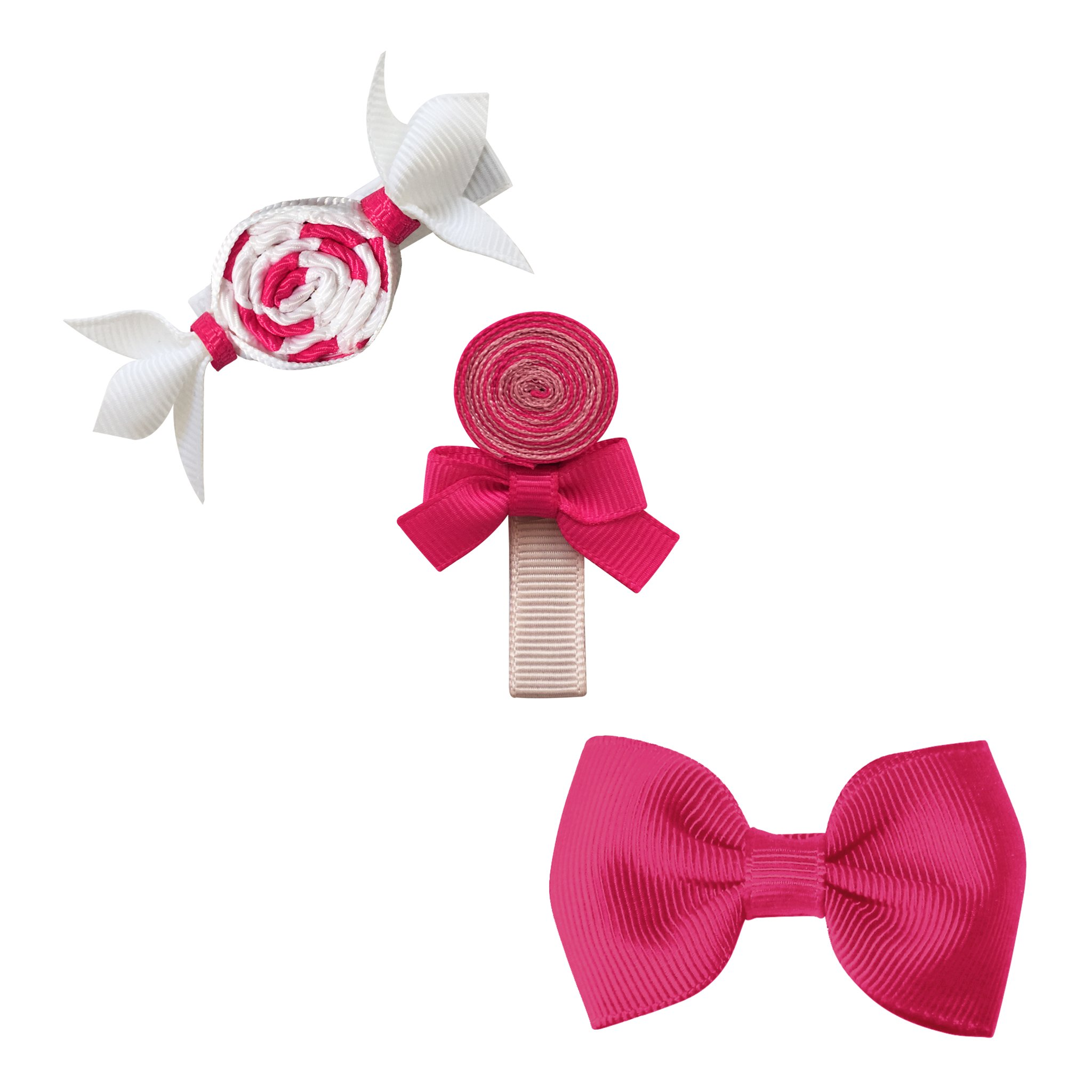 Image of Milledeux® Candy Collection gift set - Bonbon, Lollipop and Bow - azalea