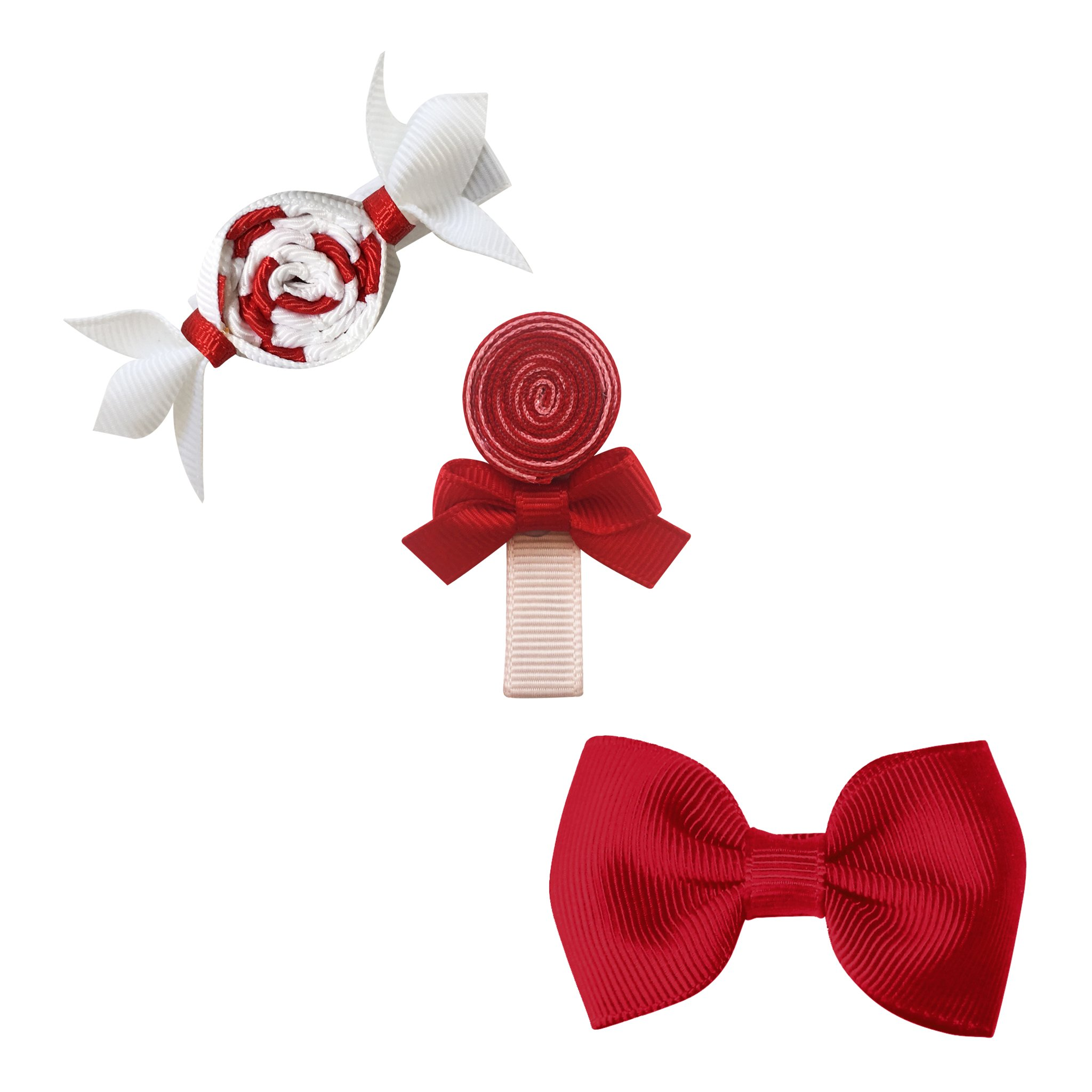 Image of Milledeux® Candy Collection gift set - Bonbon, Lollipop and Bow - scarlet