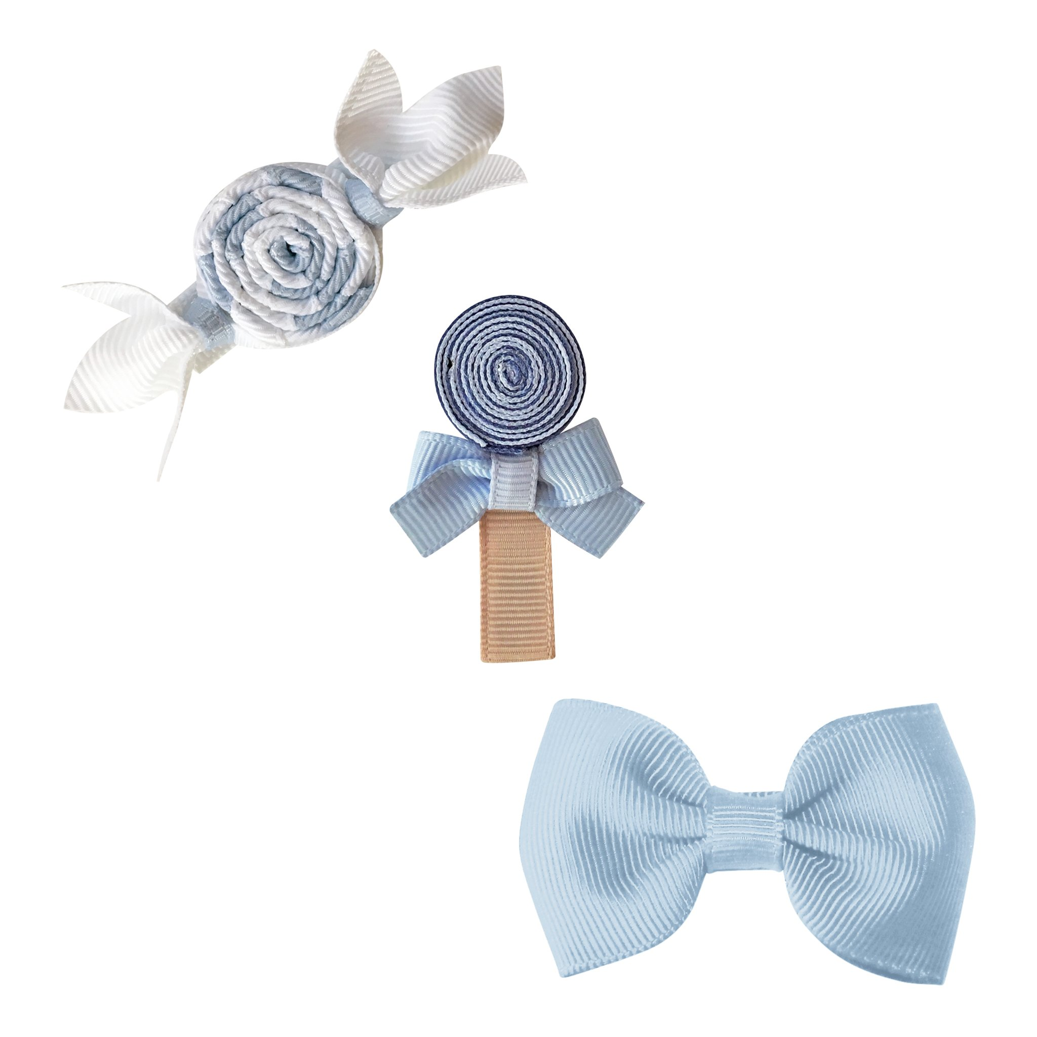 Image of Milledeux® Candy Collection gift set - Bonbon, Lollipop and Bow - bluebell