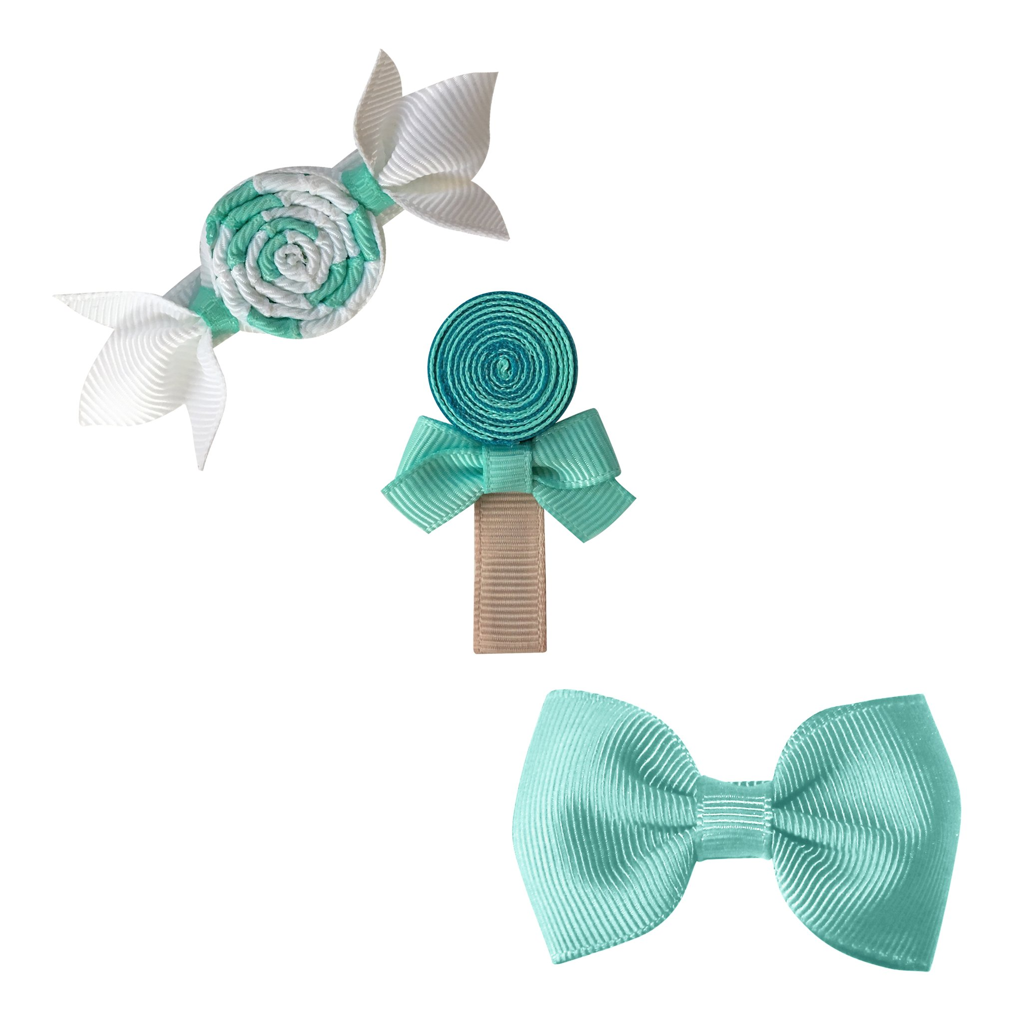 Image of Milledeux® Candy Collection gift set - Bonbon, Lollipop and Bow - aqua