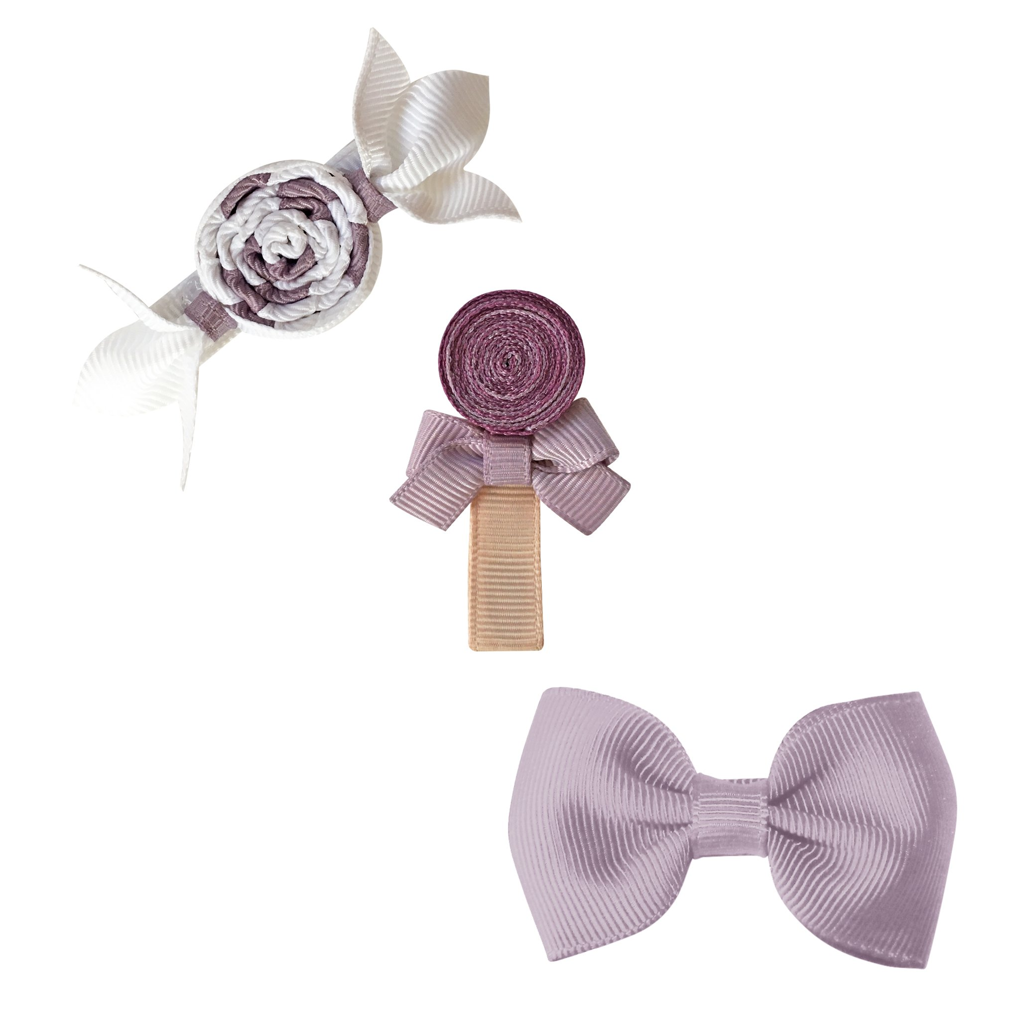 Image of Milledeux® Candy Collection gift set - Bonbon, Lollipop and Bow - thistle