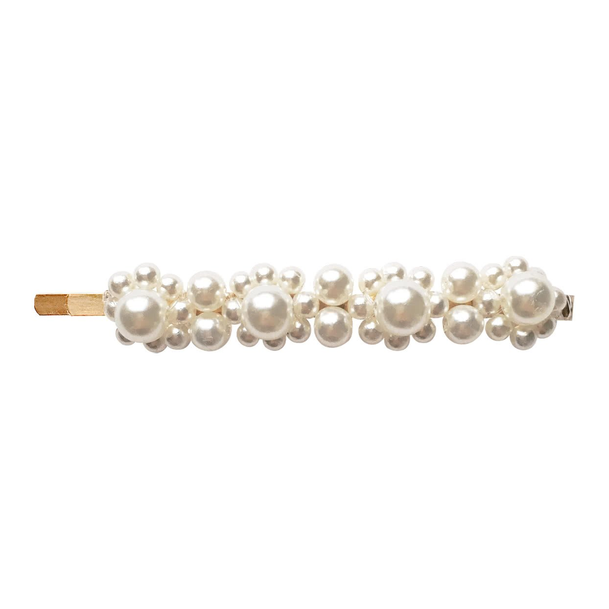 Milledeux® pearl hair pin with 3 shapes of pearls