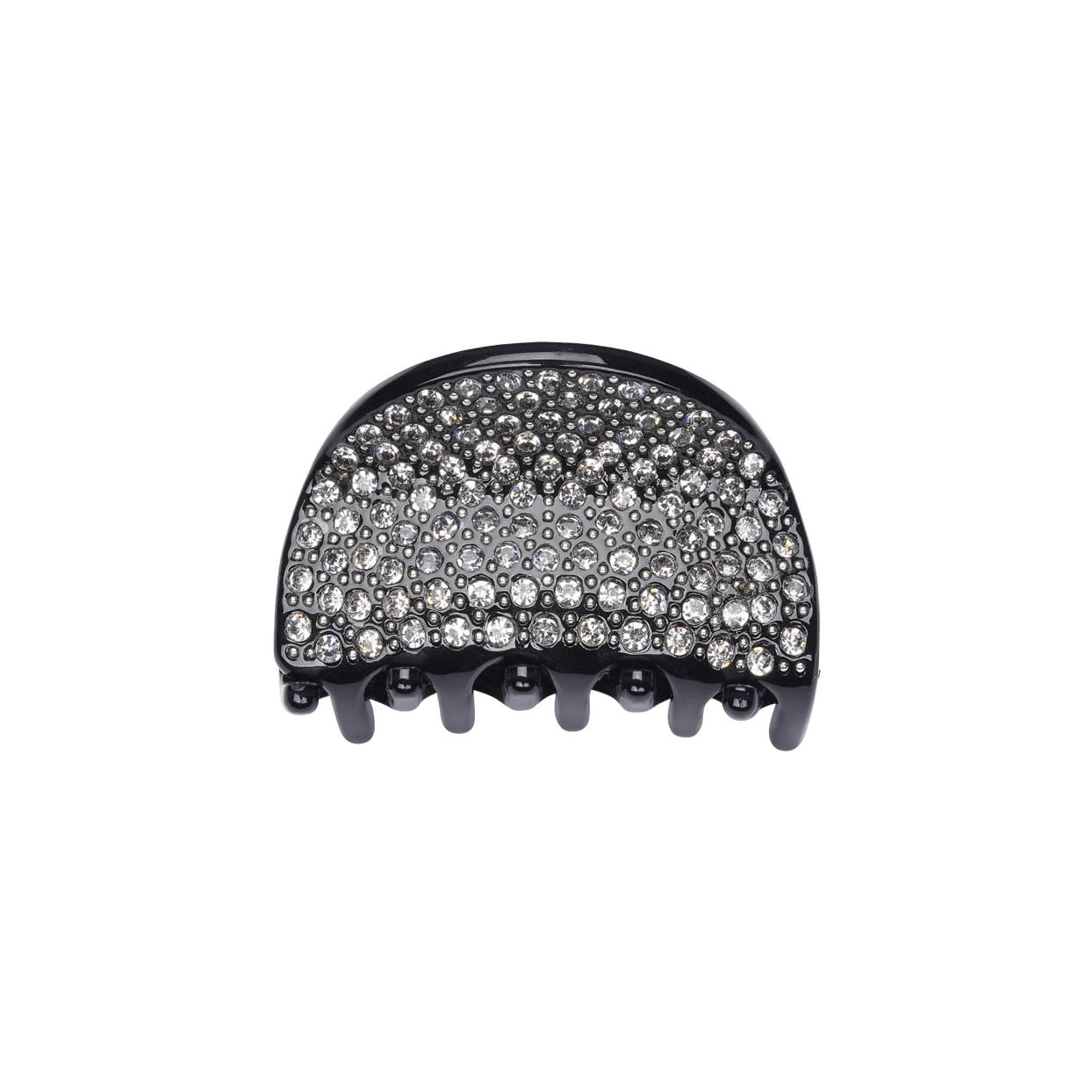 Image of Small Hair Claw with crystals - Black
