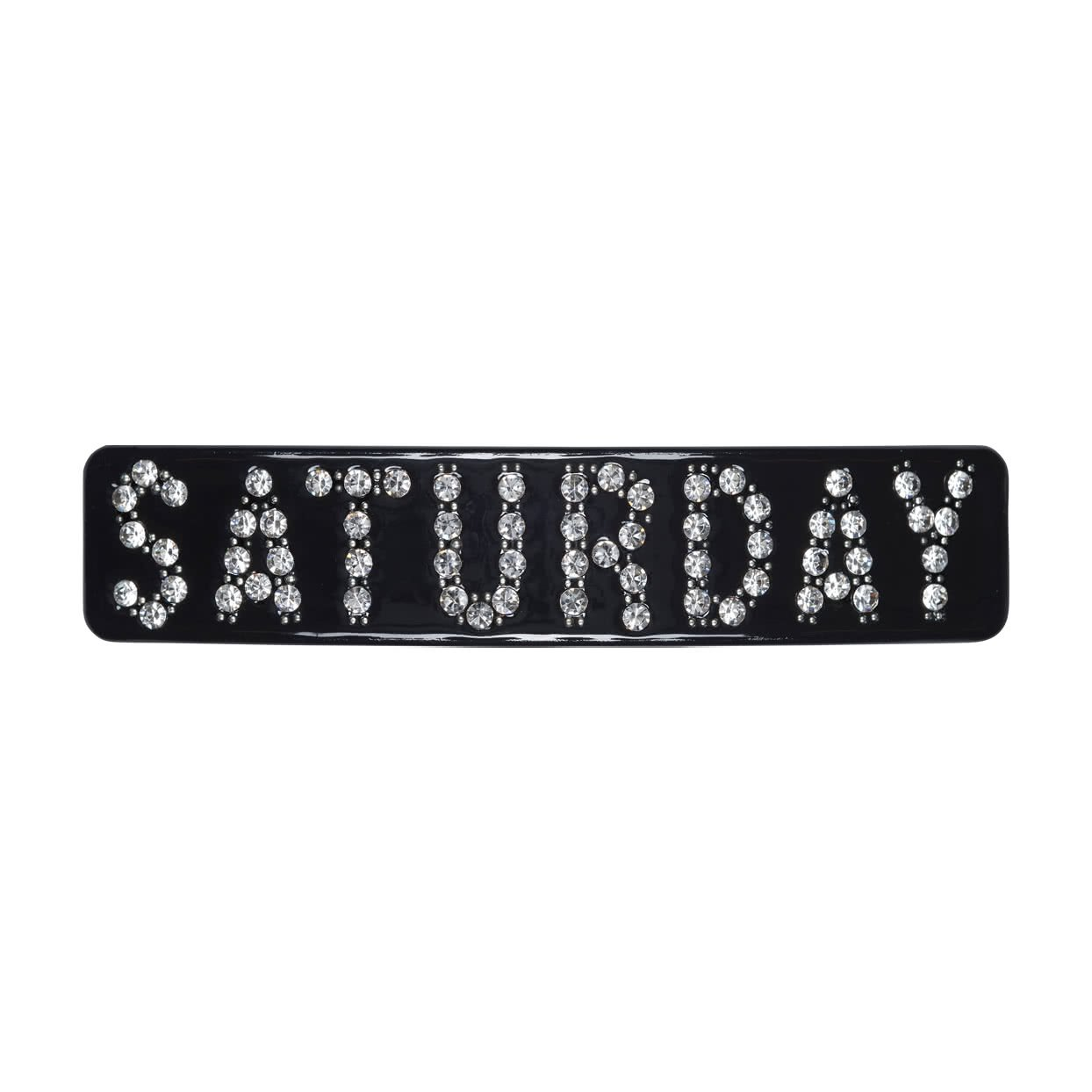 Image of Hair Barrette with crystals - Black / Saturday