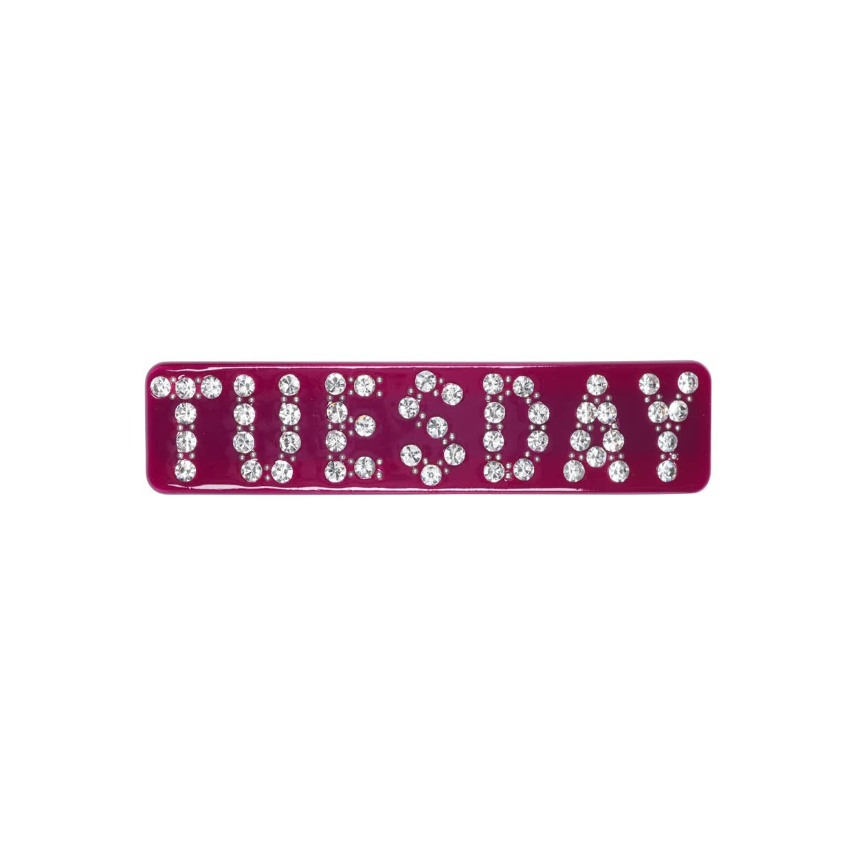Image of Hair Barrette with crystals - Burgundy / Tuesday