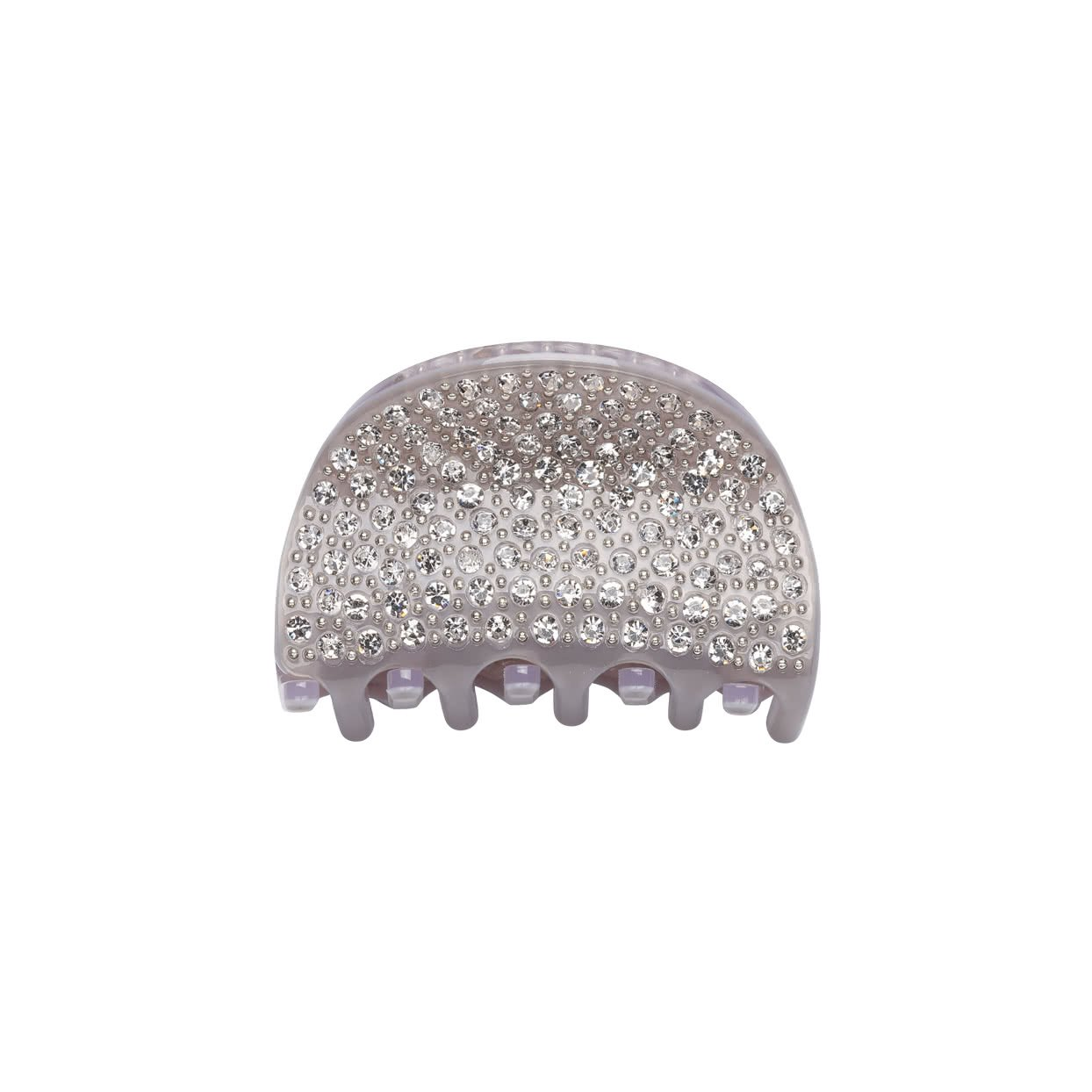 Image of Small Hair Claw with crystals - Lilac