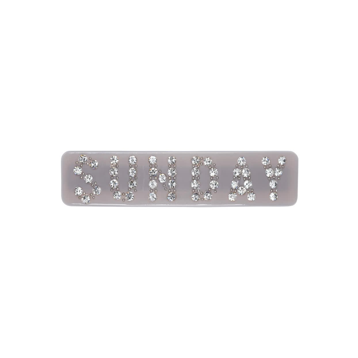 Image of Hair Barrette with crystals - Lilac / Sunday