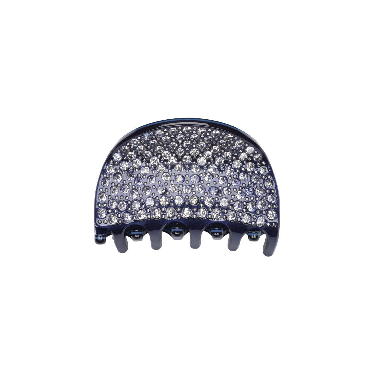 Image of Small Hair Claw with crystals - Navy